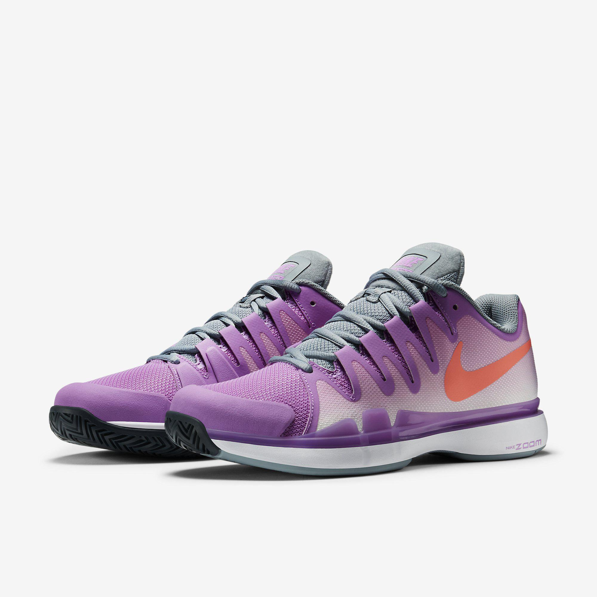 75e4dcb06abb Nike Womens Zoom Vapor 9.5 Tennis Shoes - Fuchsia Glow Dove Grey ...