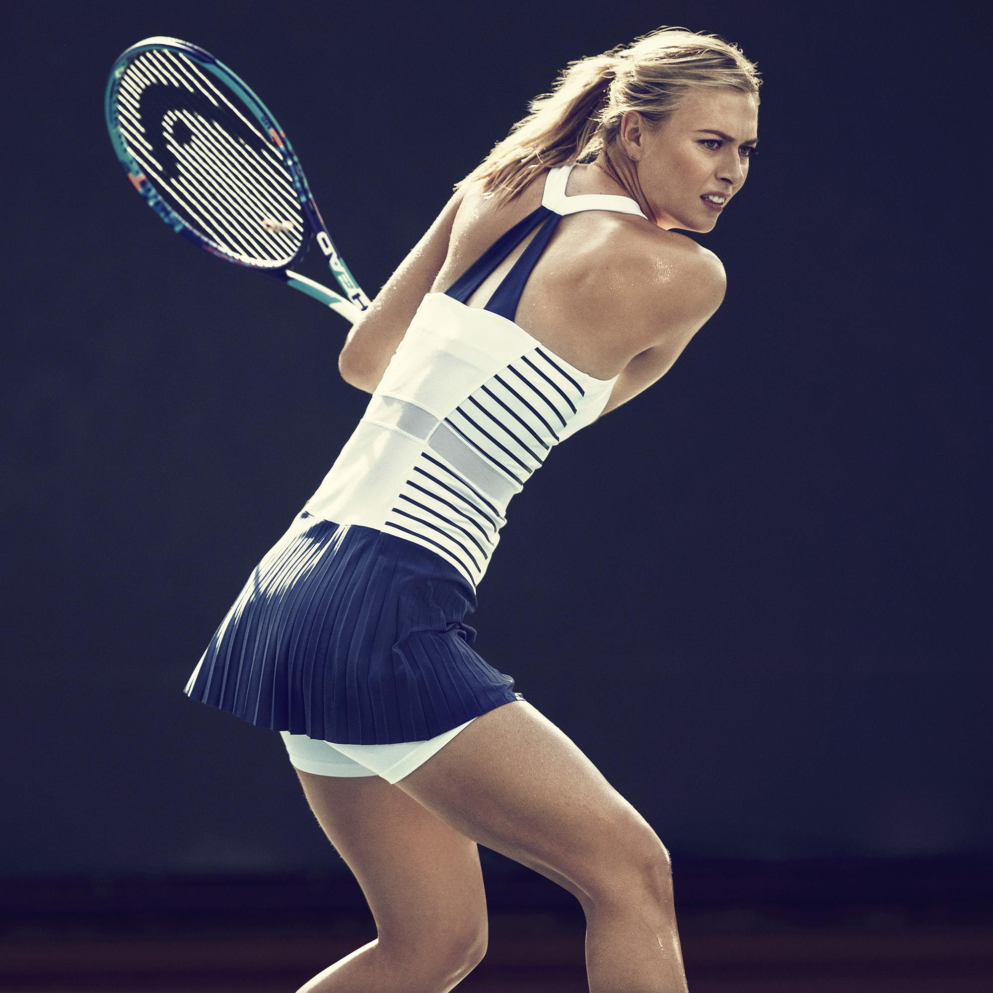 Nike Womens Premier Maria Paris Dress - White/Blue Legend ...
