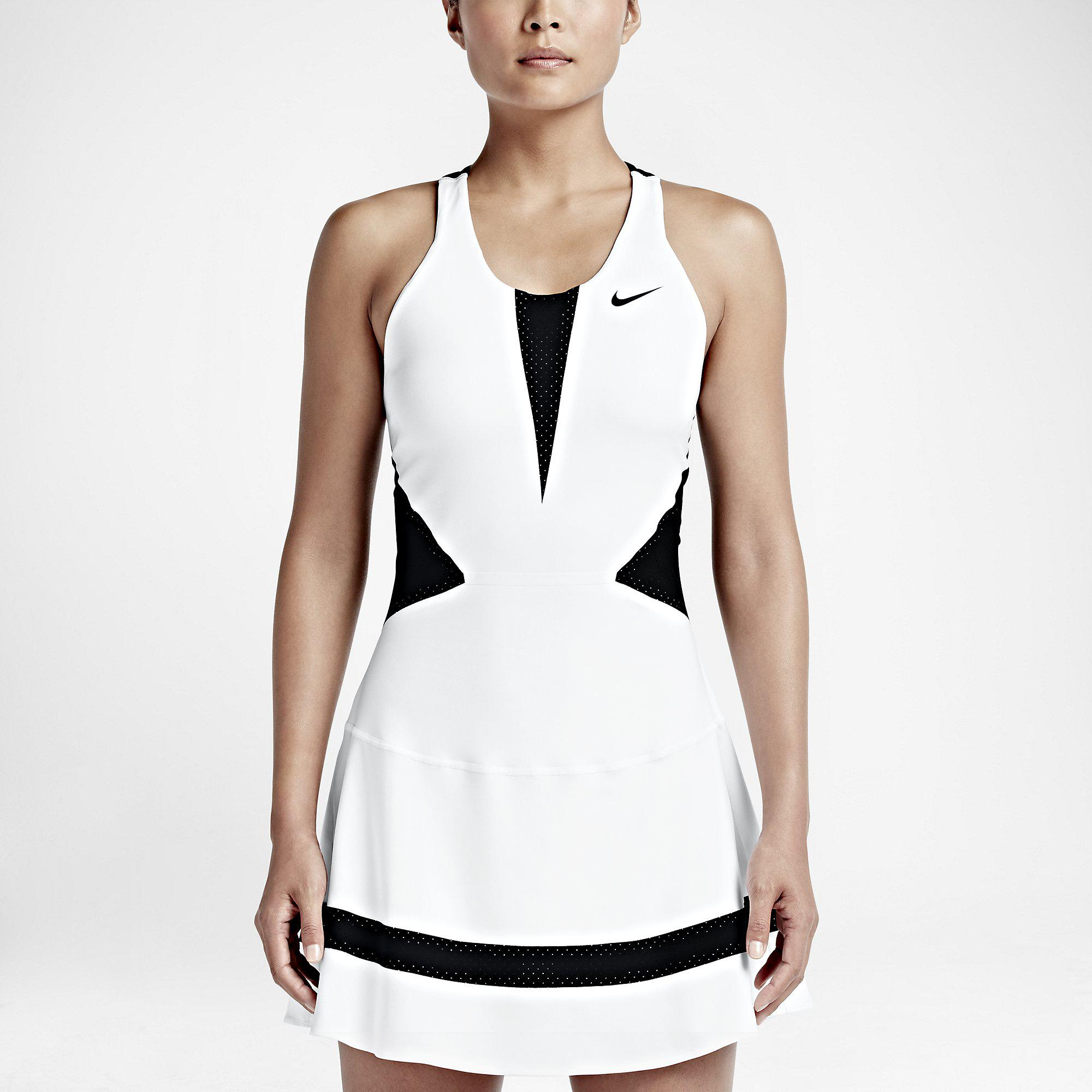 Nike tennis dress white and black