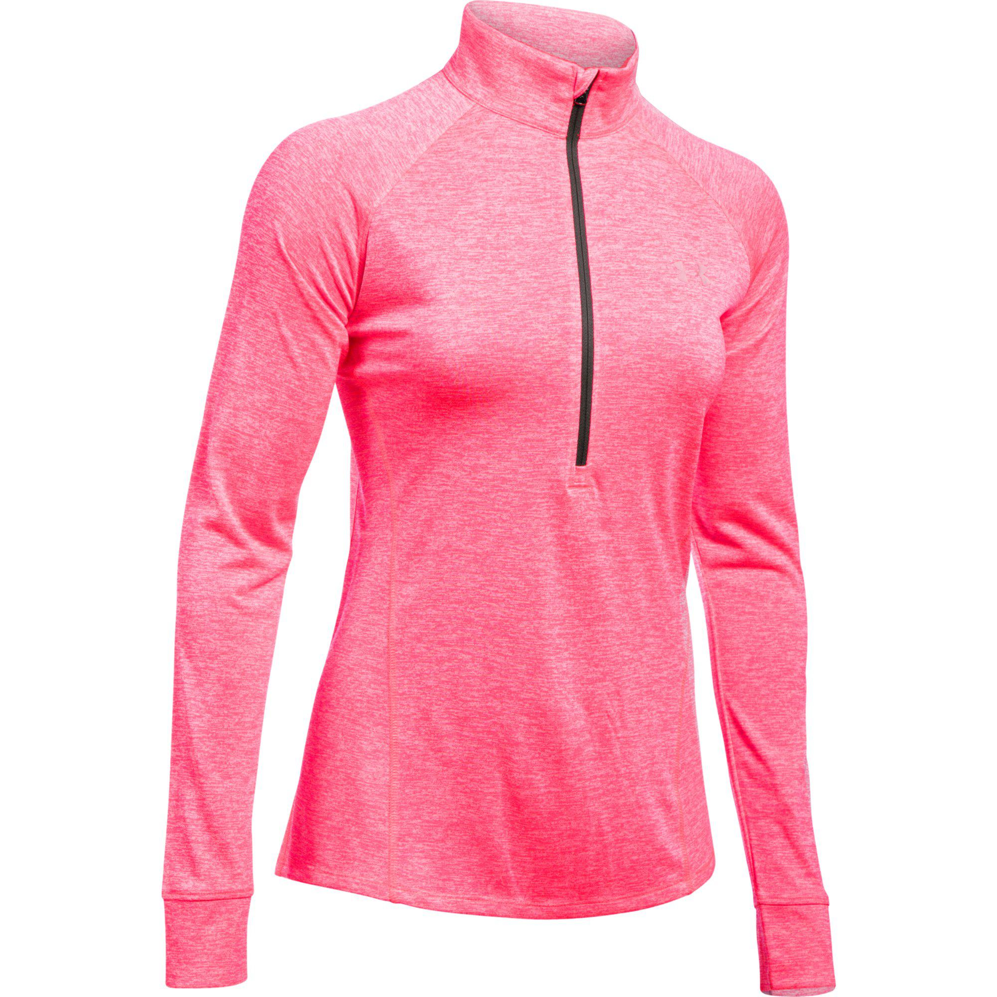 Persona australiana inversión verano  Under Armour Womens Tech 1/2 Zip Top - Pink Shock - Tennisnuts.com