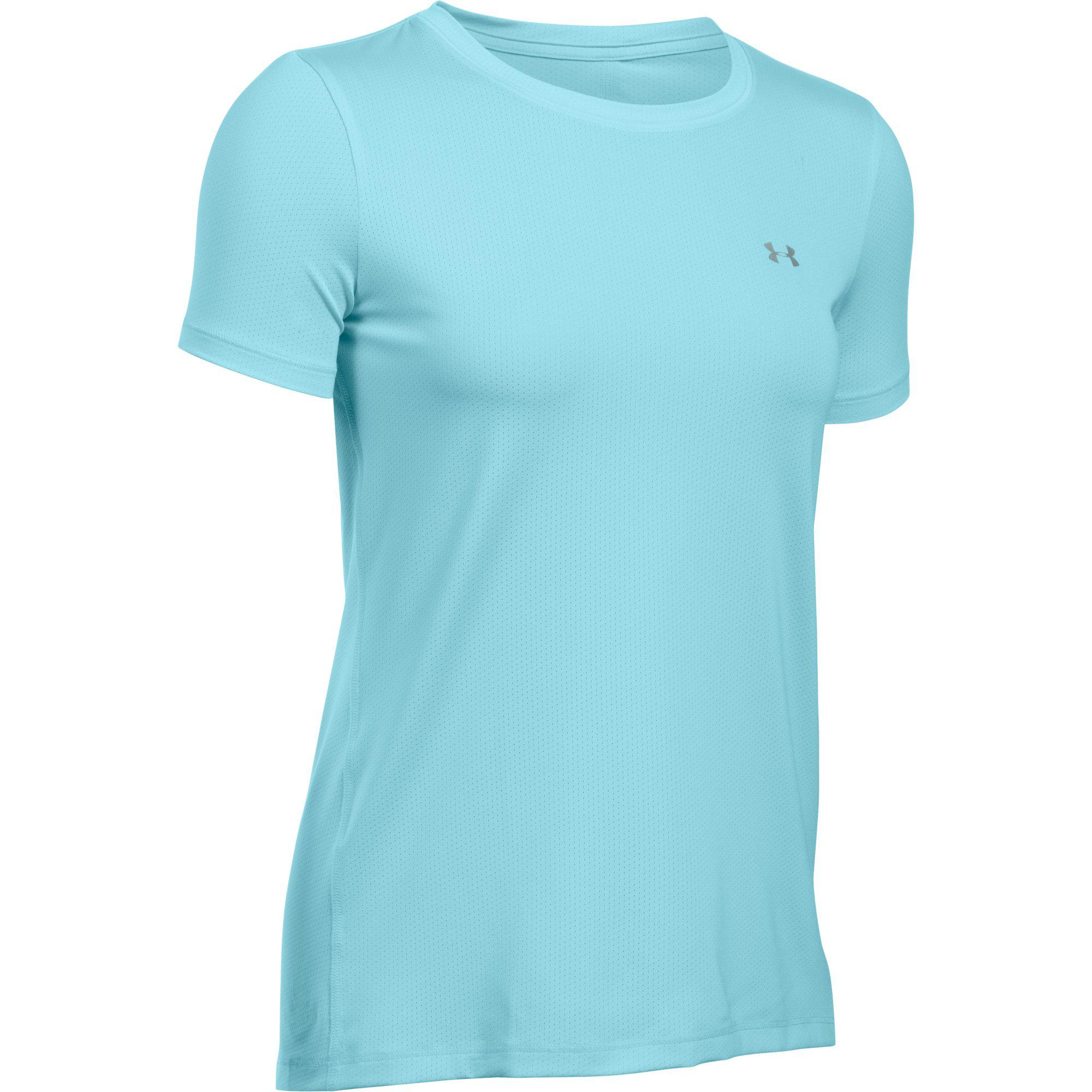 b74650e8 Under Armour Womens HeatGear Armour Short Sleeve Tee - Maui Blue -  Tennisnuts.com