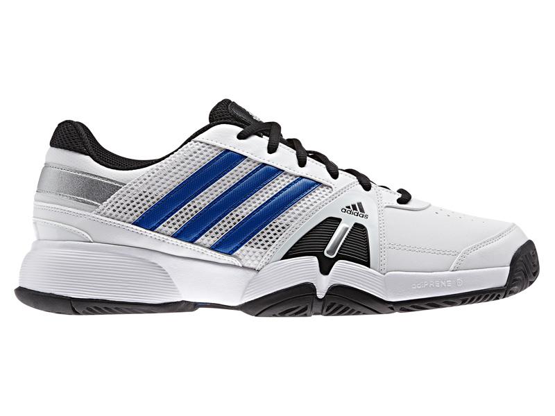 adidas mens barricata squadra 3, scarpe da tennis bianco / blu / silver