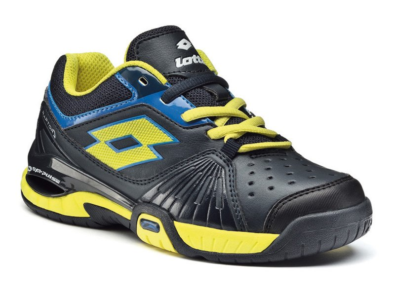 Lotto Raptor Ultra IV Junior Tennis Shoes - Graphite Black Lizard Green -  Tennisnuts.com 507d10be95c