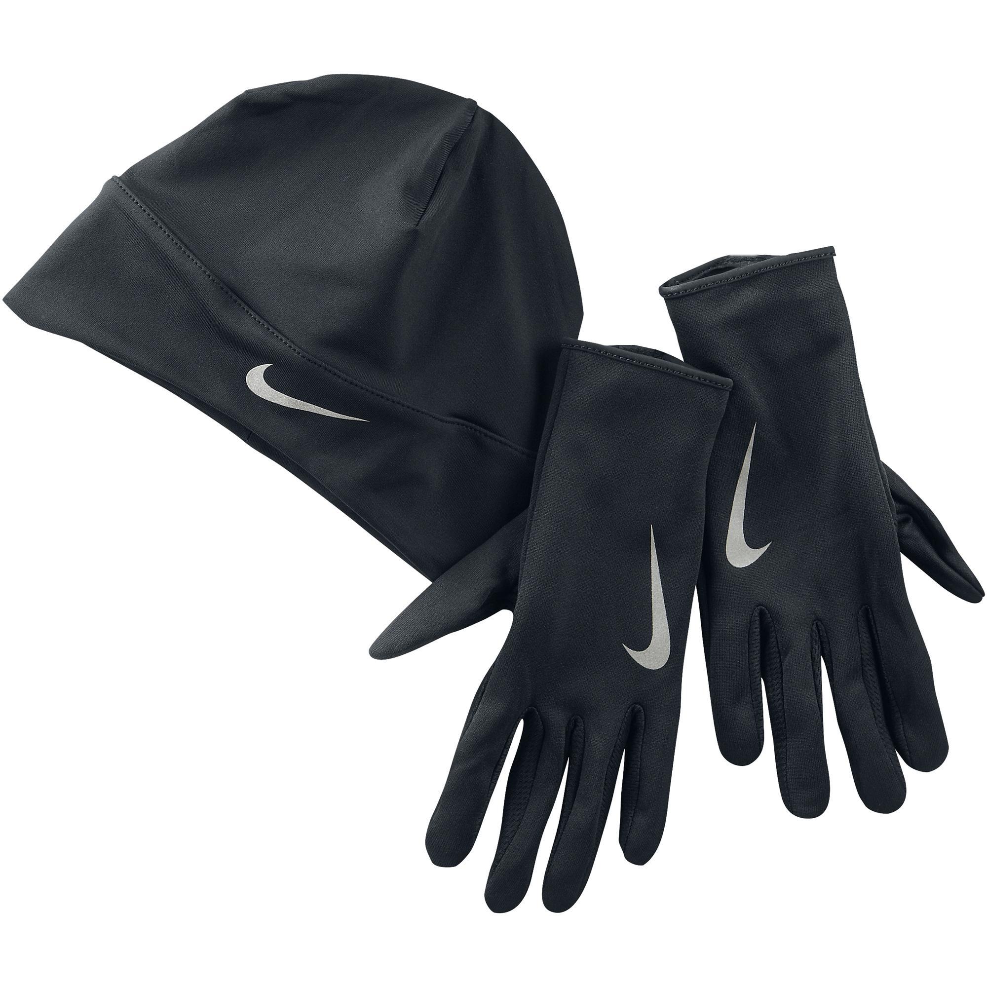 Nike Womens Dri-FIT Glove   Beanie Set - Black Silver - Tennisnuts.com a032839ca2b