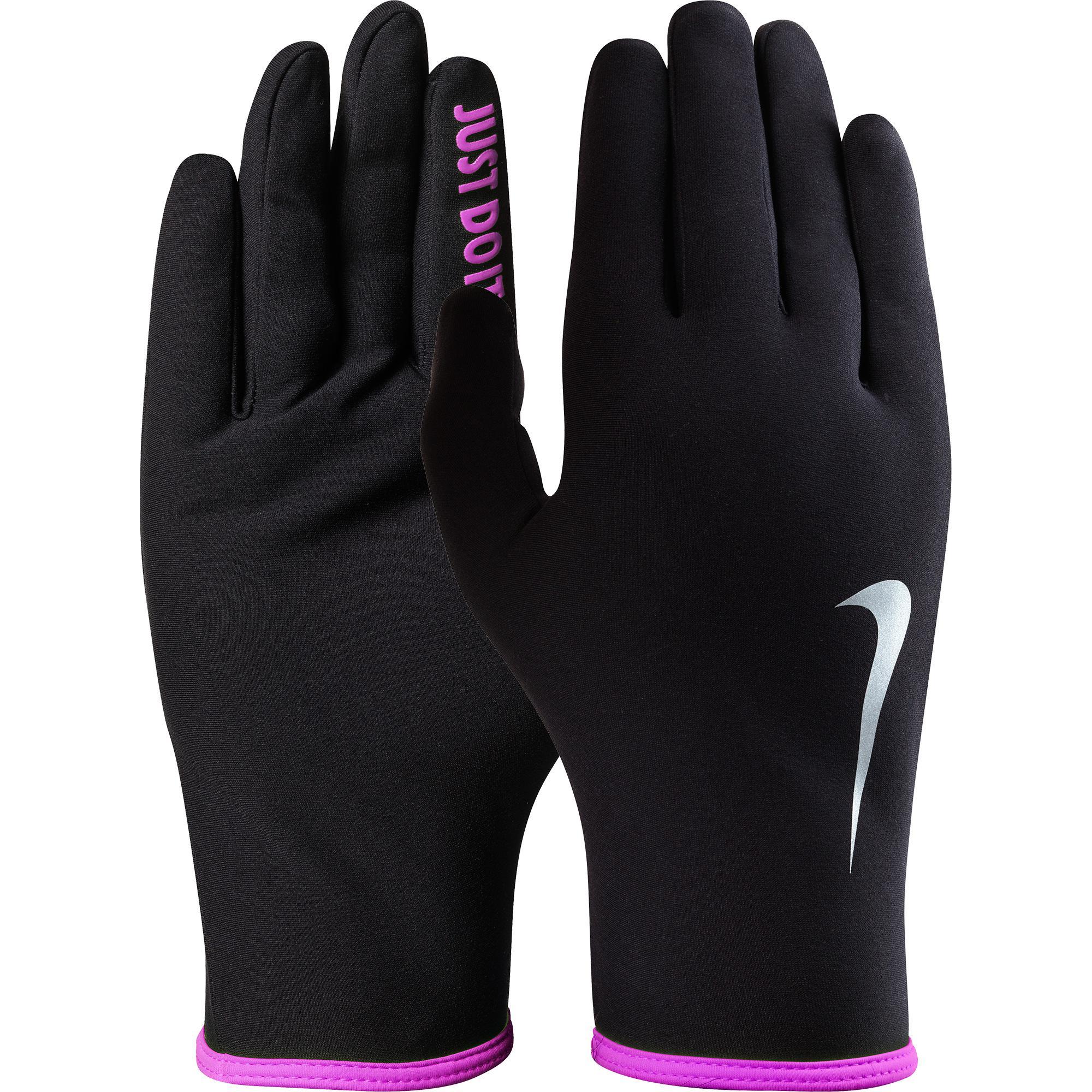 Nike Womens Lightweight Rival 2.0 Running Gloves BlackPink