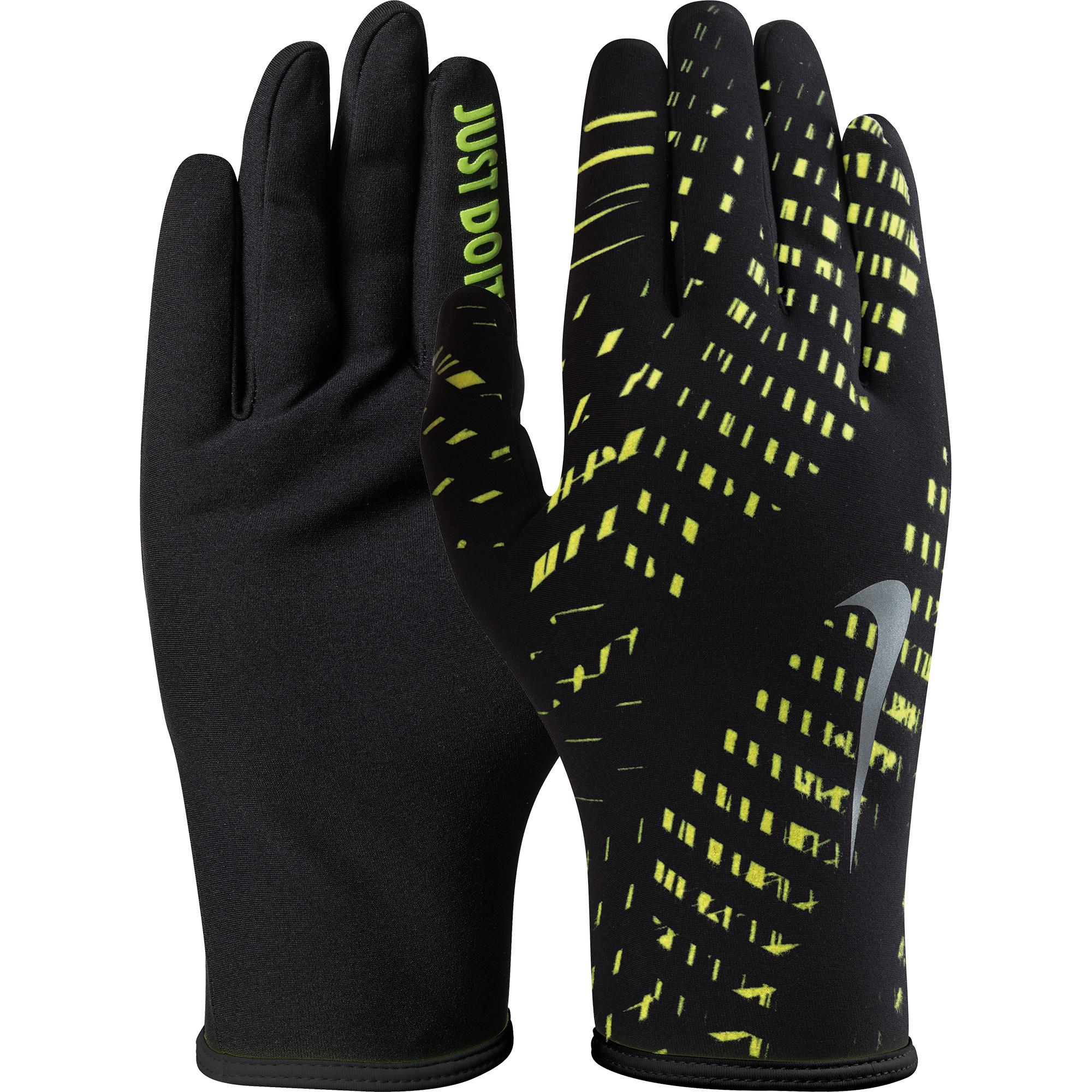 official photos e520b 8b5df Nike Mens Lightweight Rival 2.0 Running Gloves - Black Volt - Tennisnuts.com