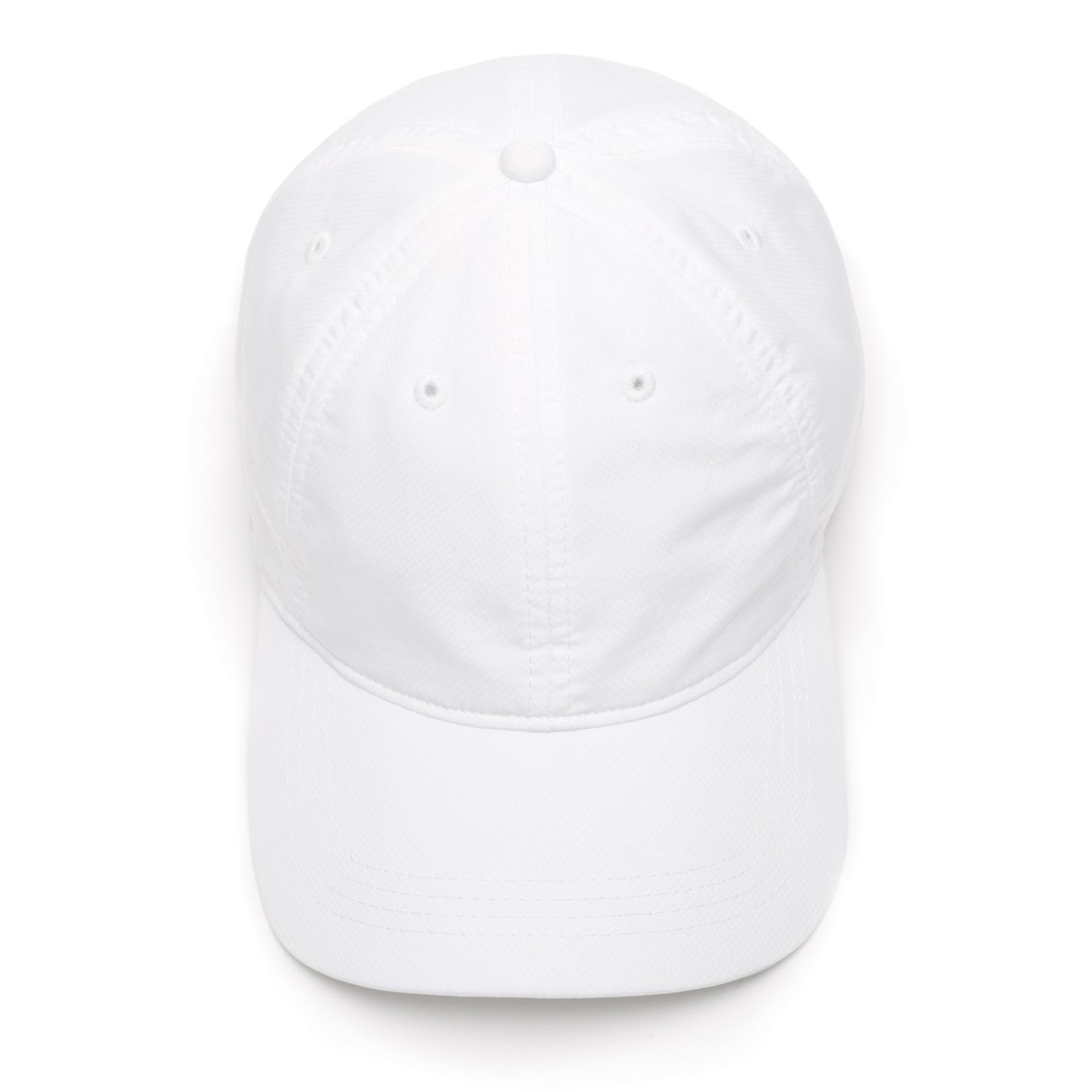 82985ad3a43 Lacoste Sport Cap in Solid Diamond Weave Taffeta - White ...