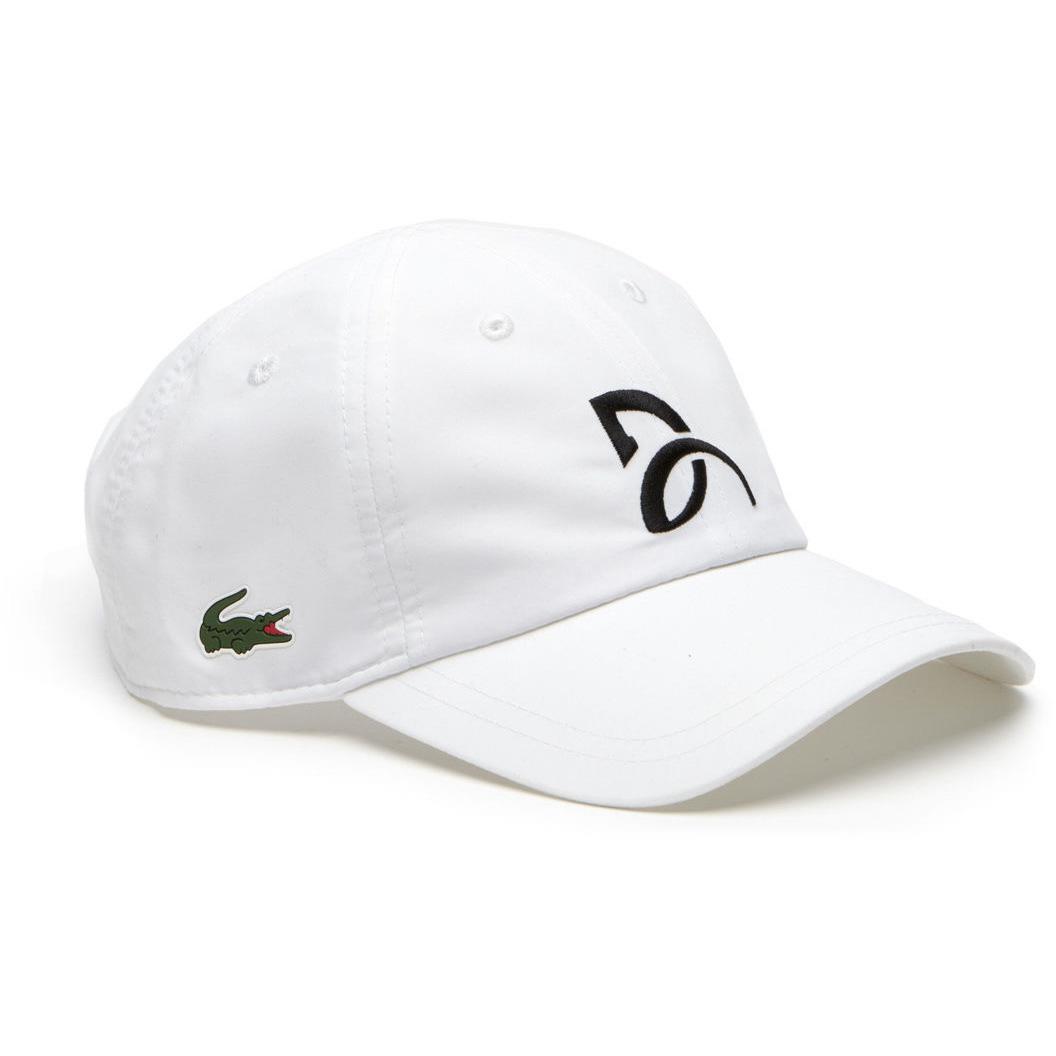 c22e0407 Lacoste Sport Mens Novak Djokovic Cap - White - Tennisnuts.com