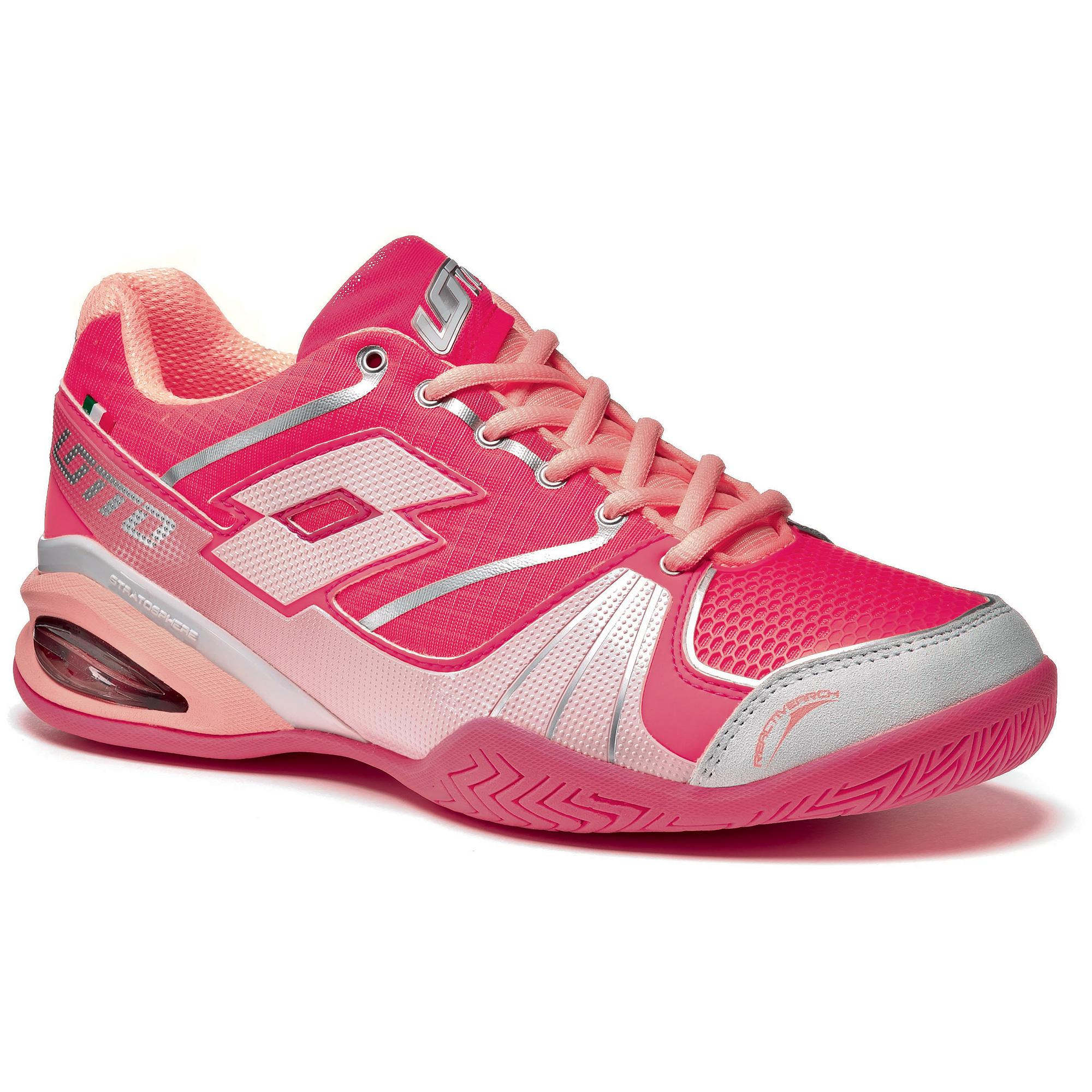 lotto womens stratosphere speed tennis shoes pink fluo