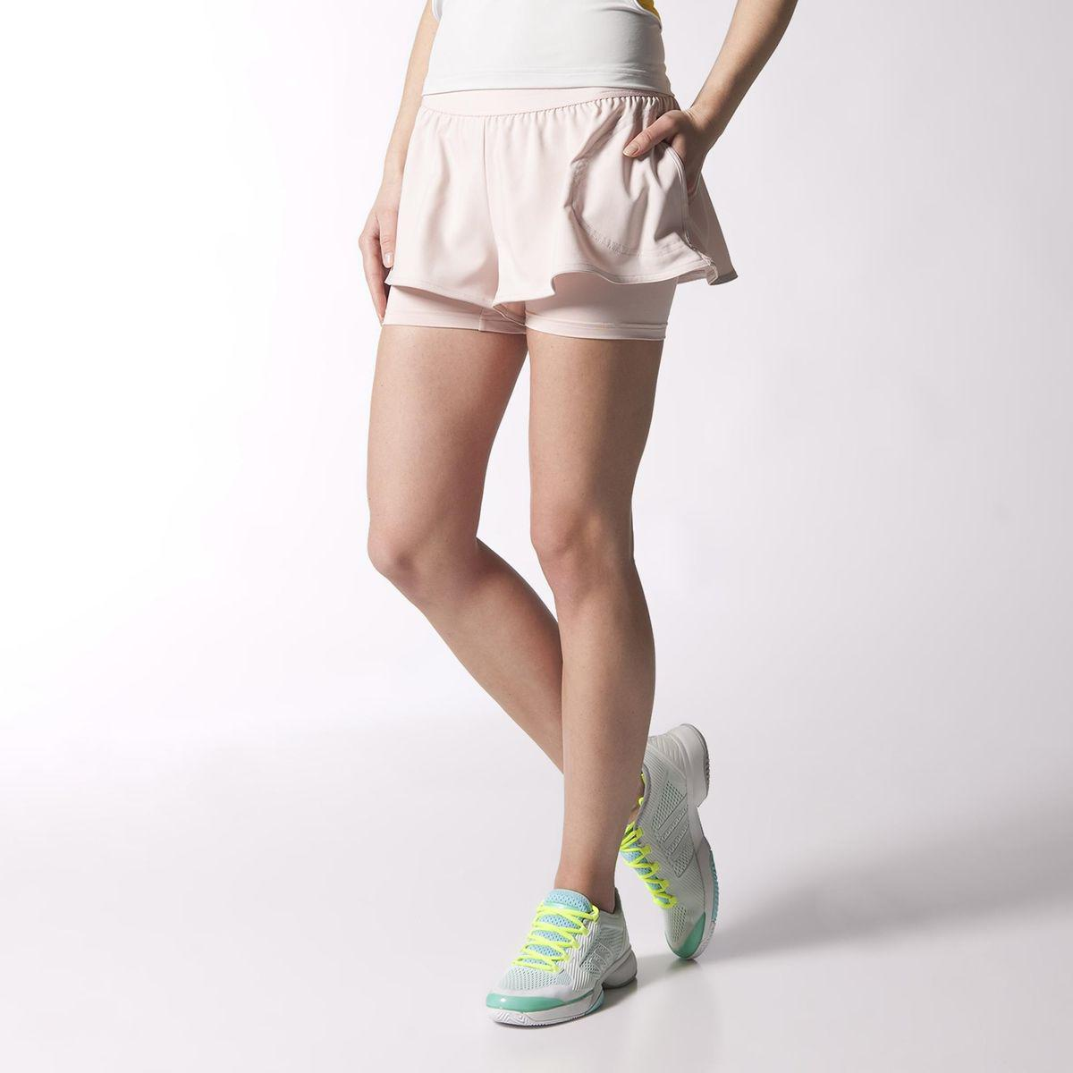 Adidas Womens Stella McCartney Barricade Shorts - Light Pink ... c77584df0f