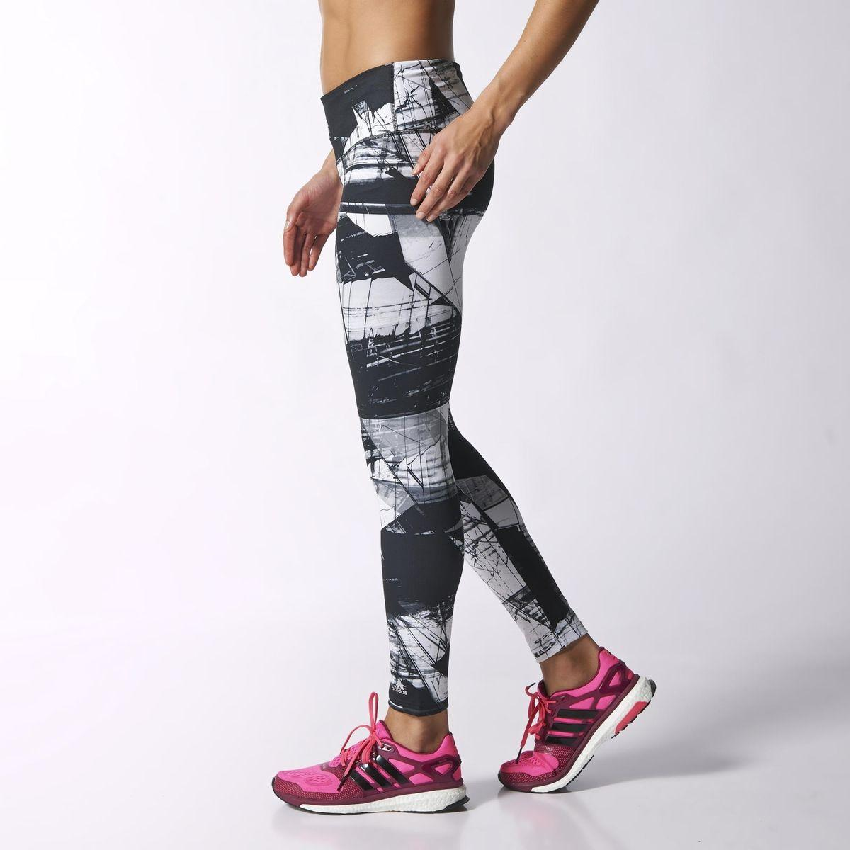 33e5d76a81c Adidas Womens Ultimate Fit Highrise Tights - White/Black ...