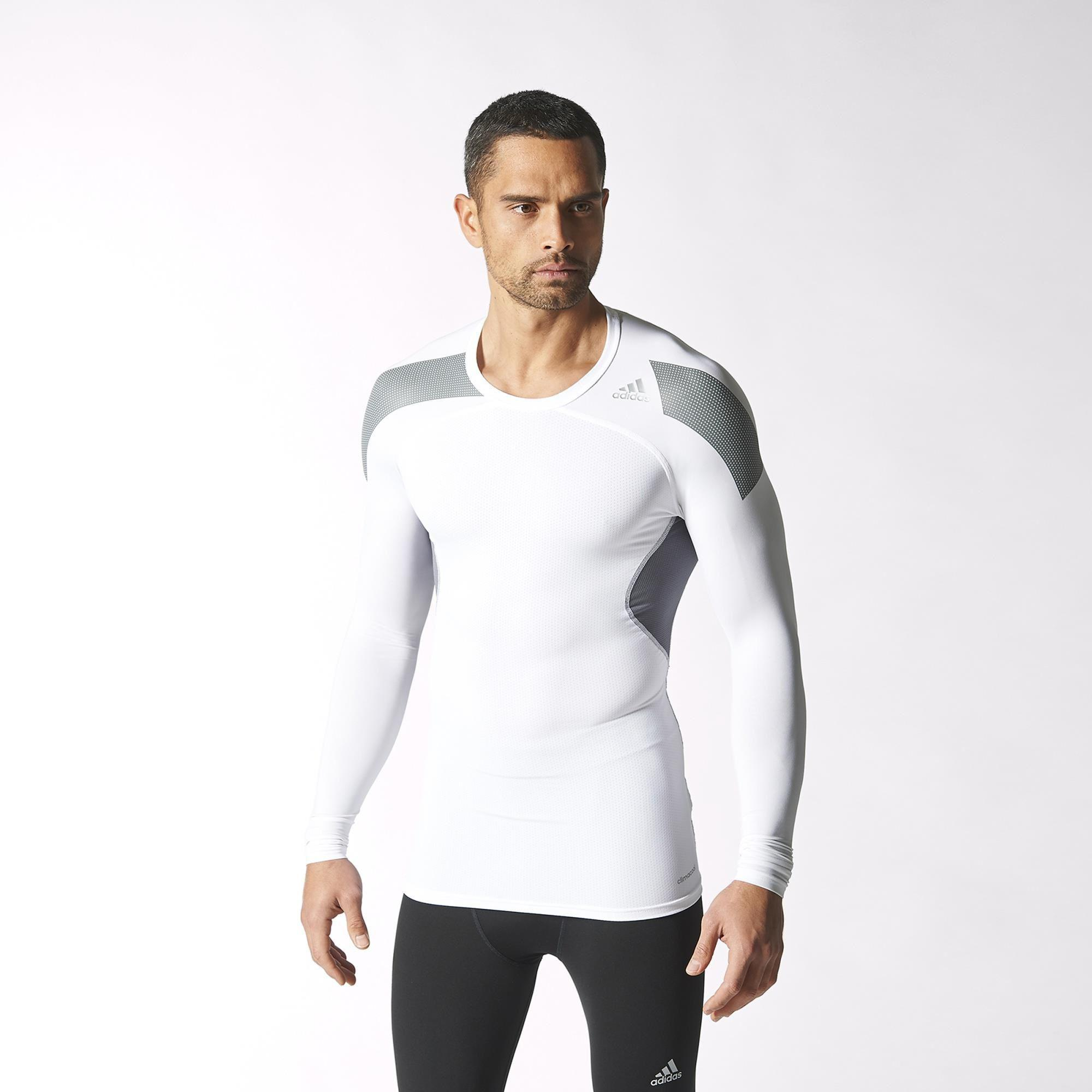 Adidas Mens Techfit Cool Long Sleeve Tee