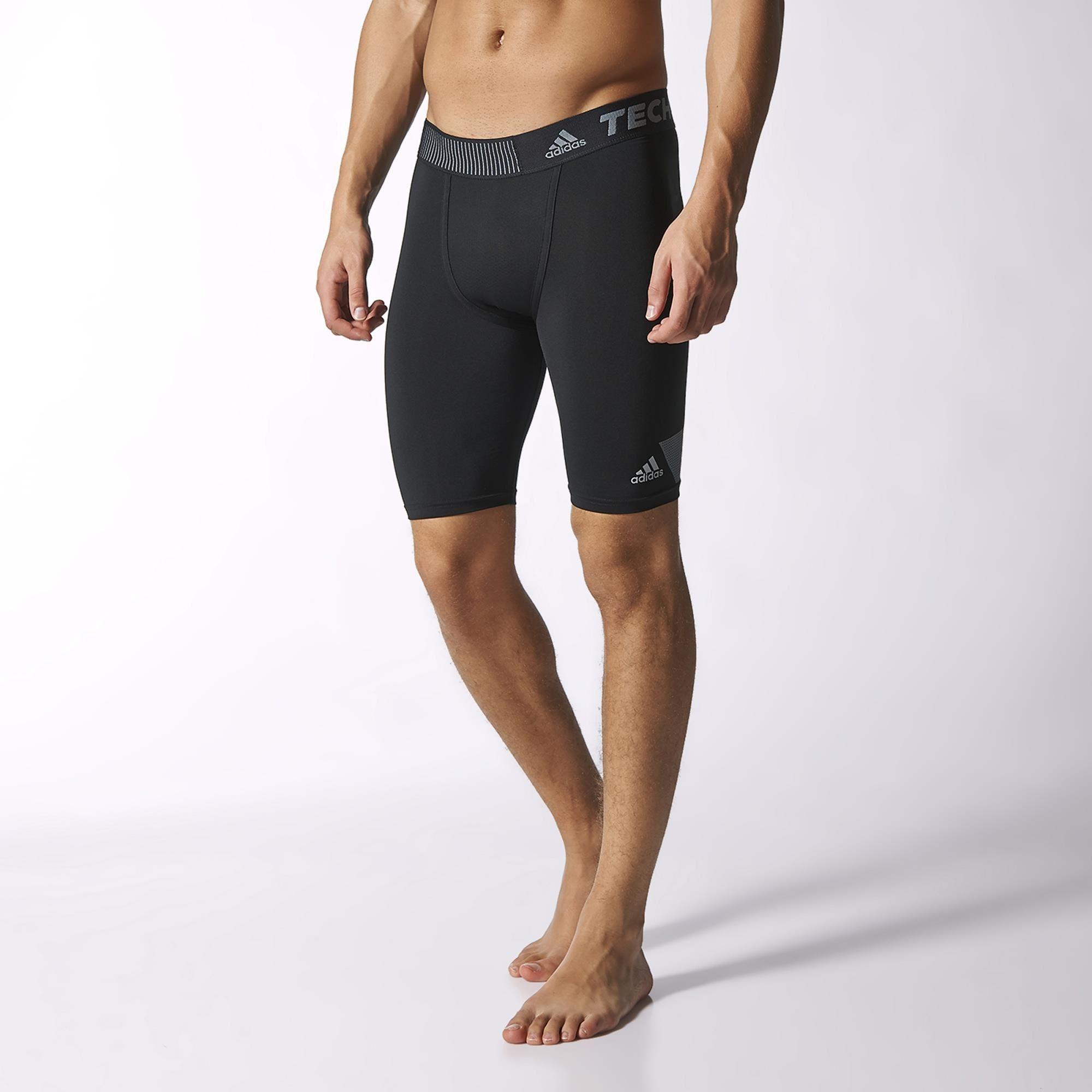 Adidas Mens Techfit Cool 9-Inch Short Tights