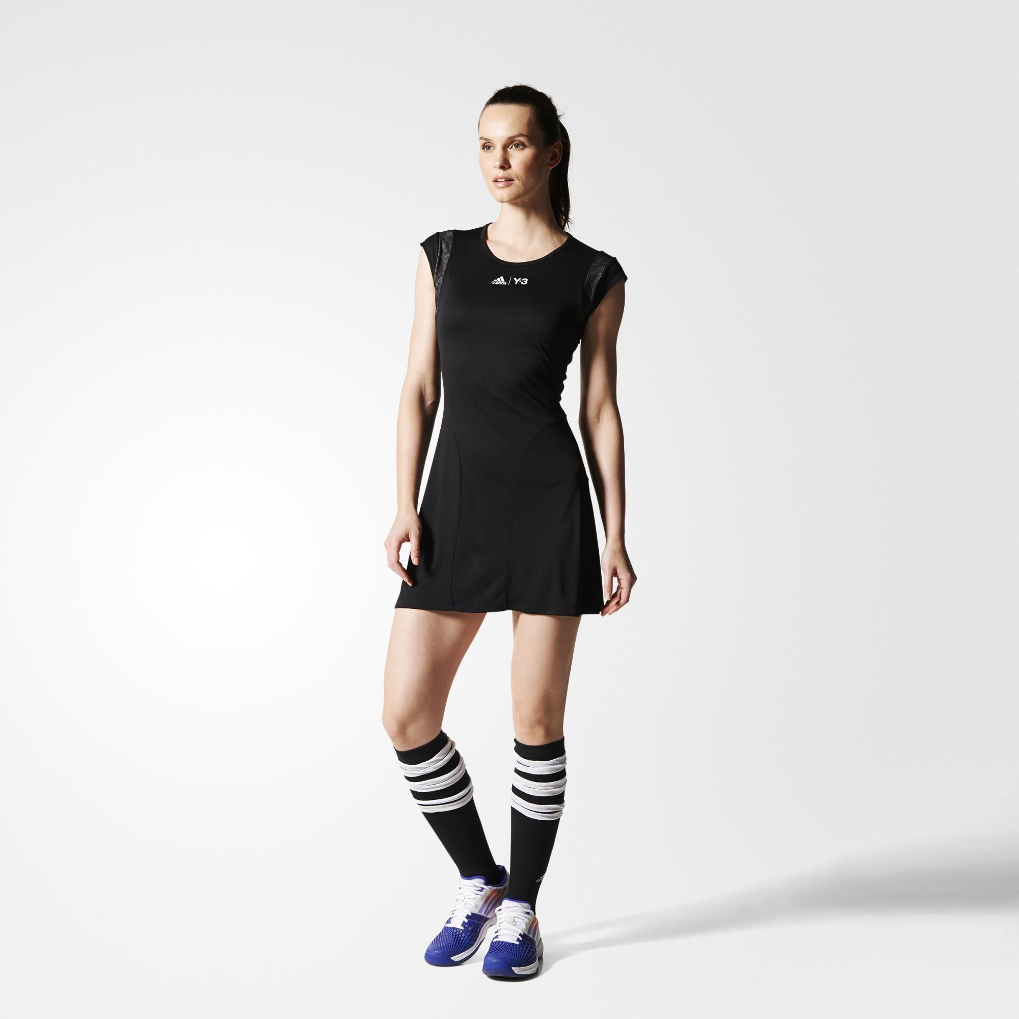 f818366c2987 Adidas Womens Y-3 Roland Garros Dress - Black - Tennisnuts.com