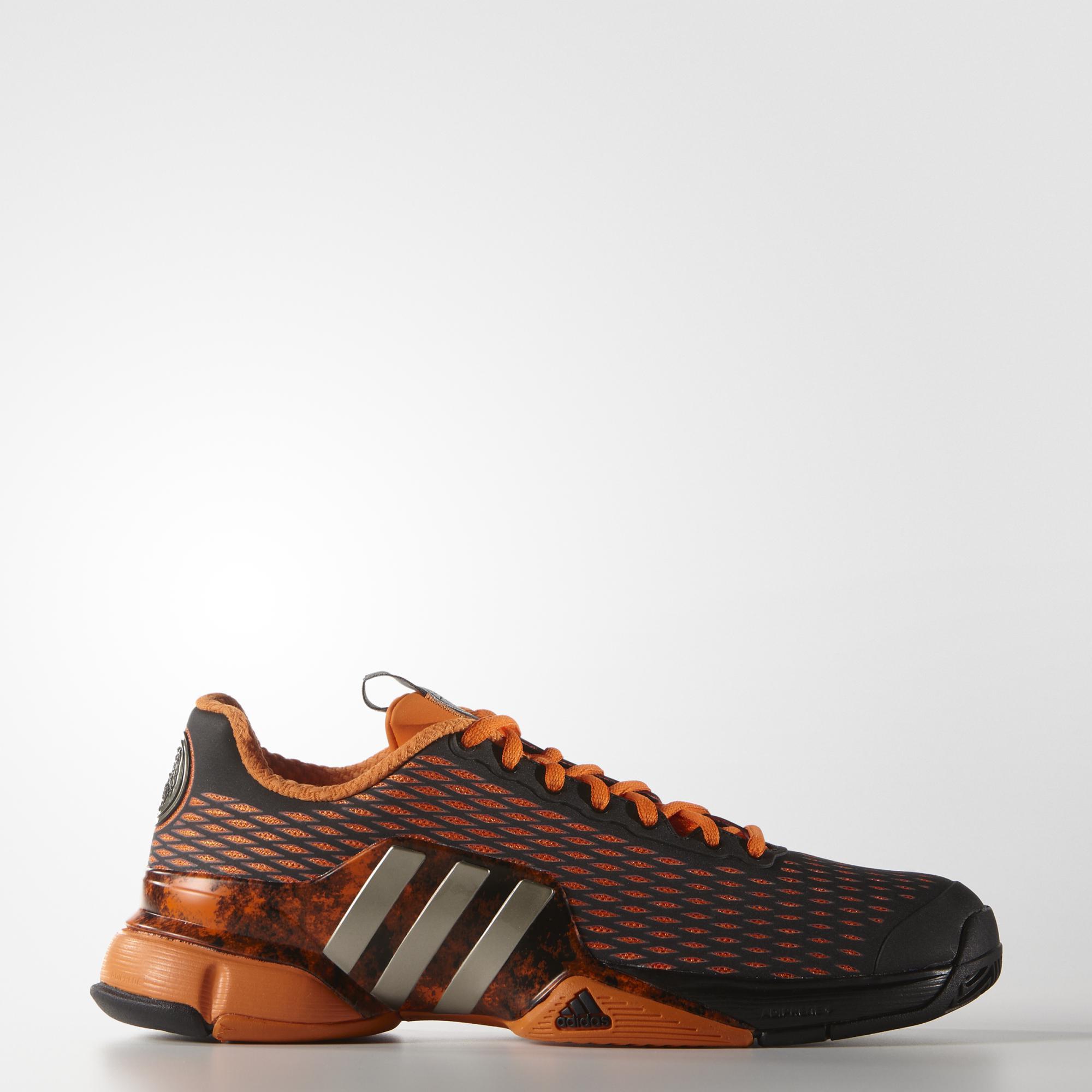 38888d217 Adidas Mens Barricade 2016 Alexander Tennis Shoes - Orange Black -  Tennisnuts.com