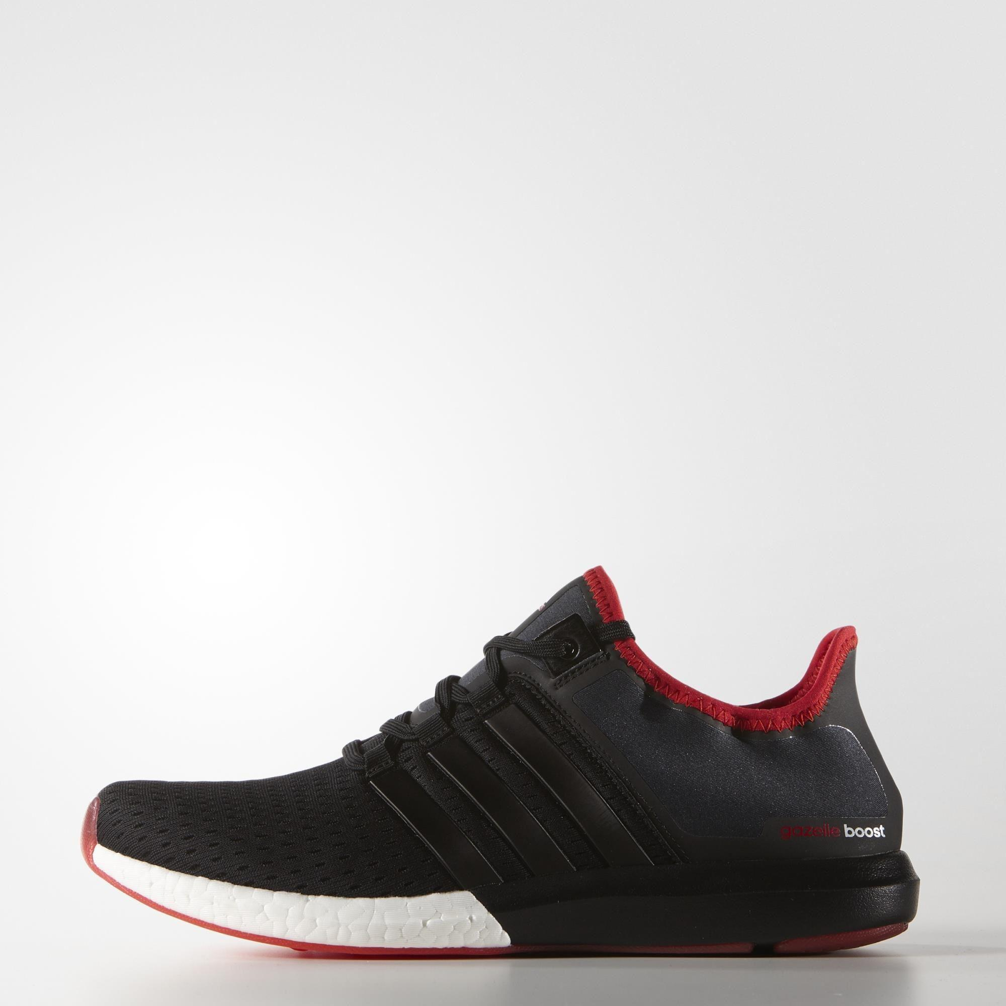 Adidas Mens Climachill Gazelle Boost Running Shoes - Core Black/Vivid Red