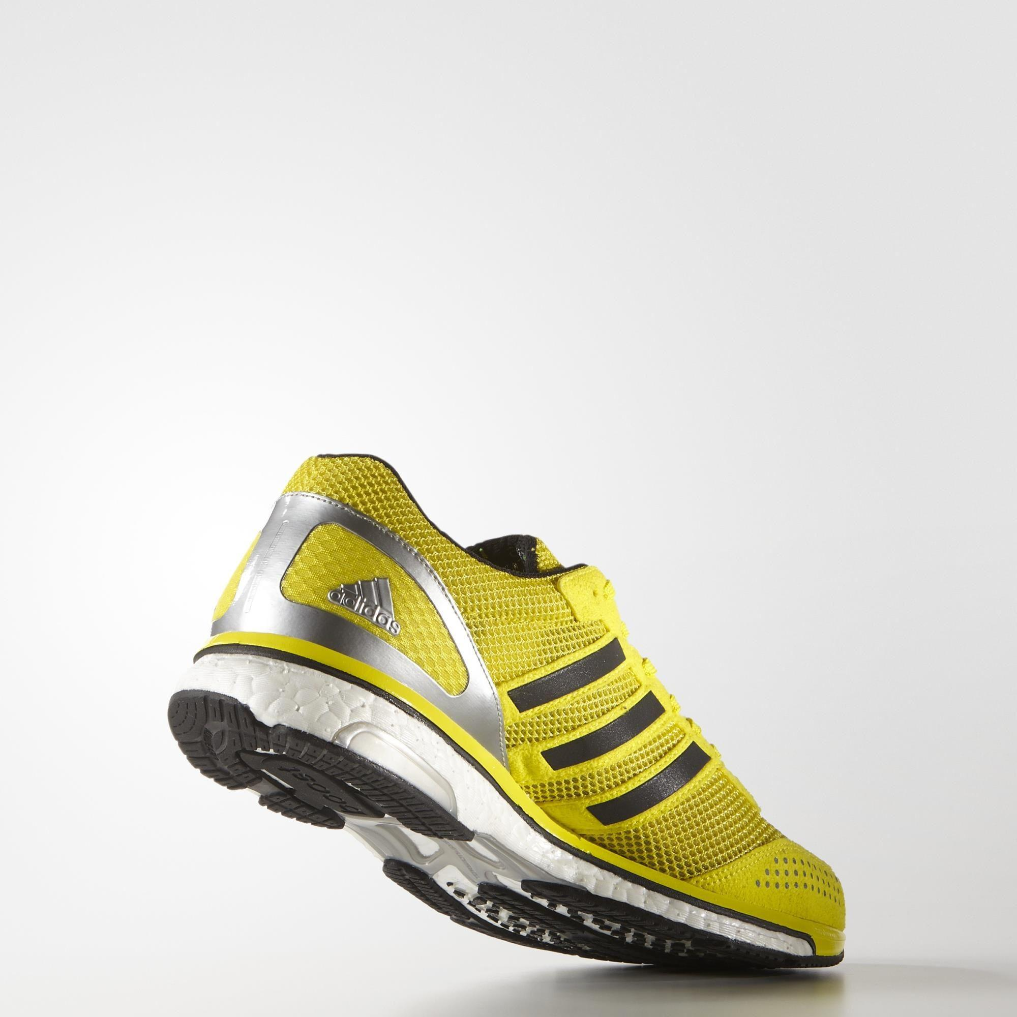 Out Of Stock. Adidas Mens Adizero Adios Boost 2.0 Haile Running Shoes -  Yellow/White ...