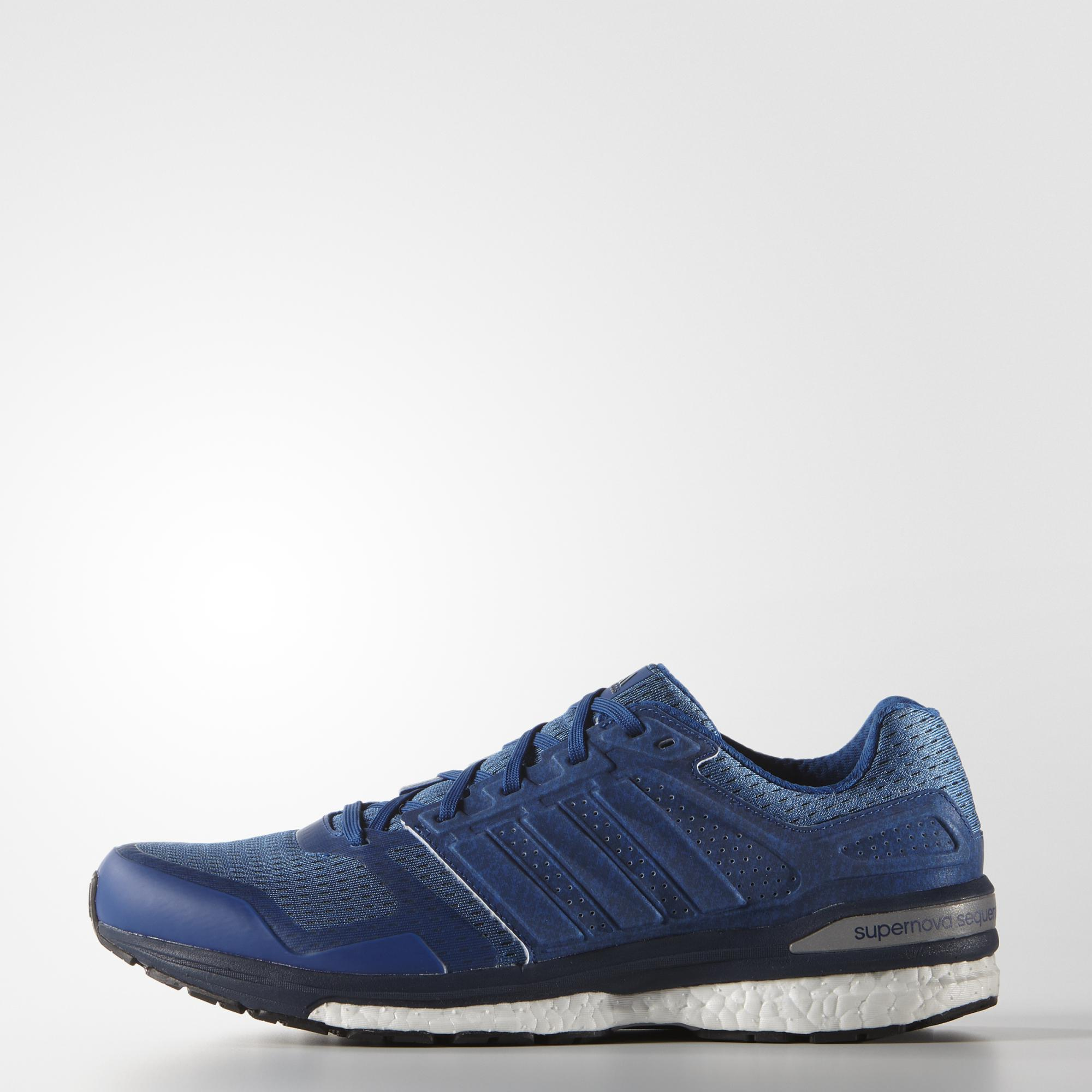 bfc648de6b0 Adidas Mens Supernova Sequence Boost Running Shoes - Blue - Tennisnuts.com