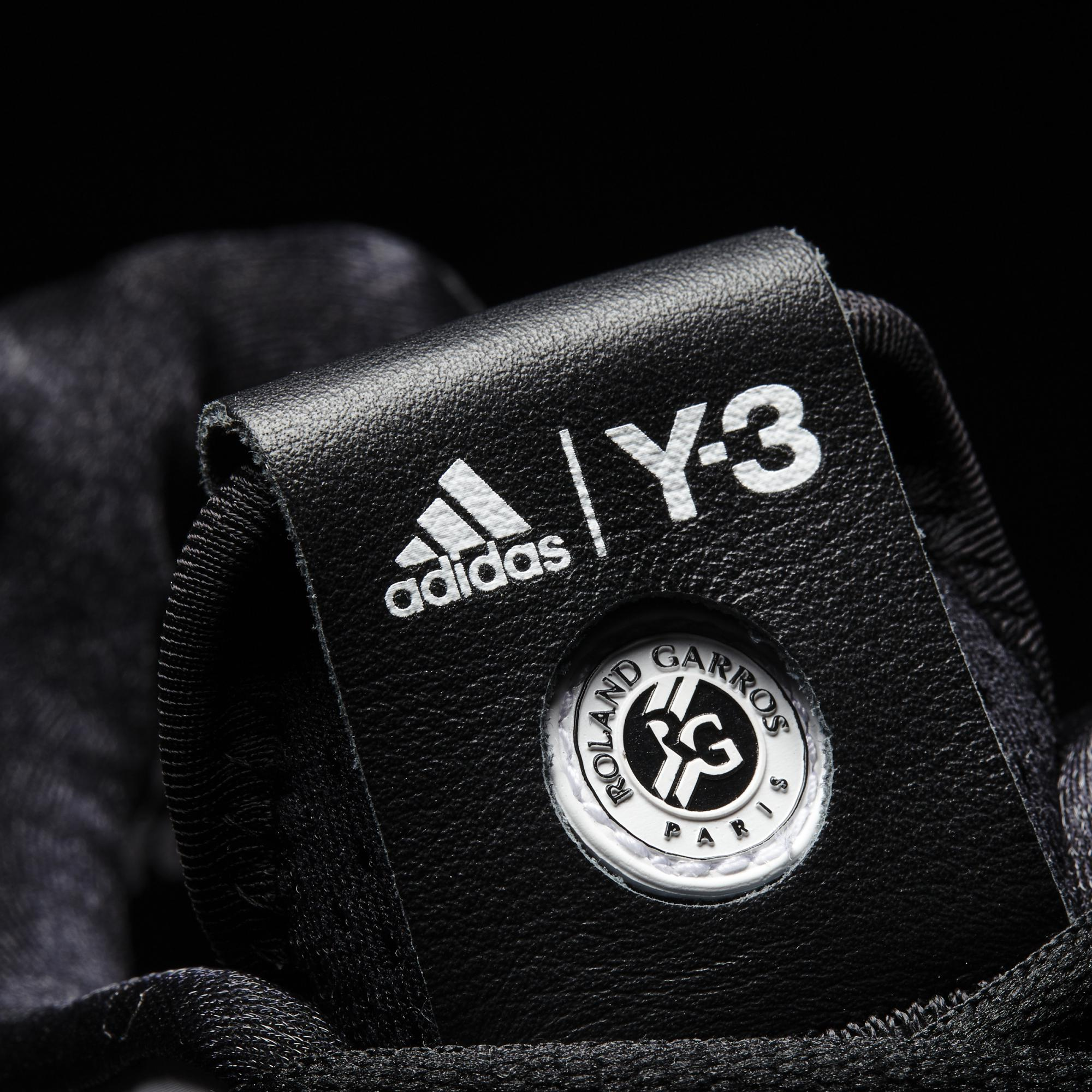 3680ece7c Adidas Mens Adizero Y-3 2016 Tennis Shoes - Black White - Tennisnuts.com