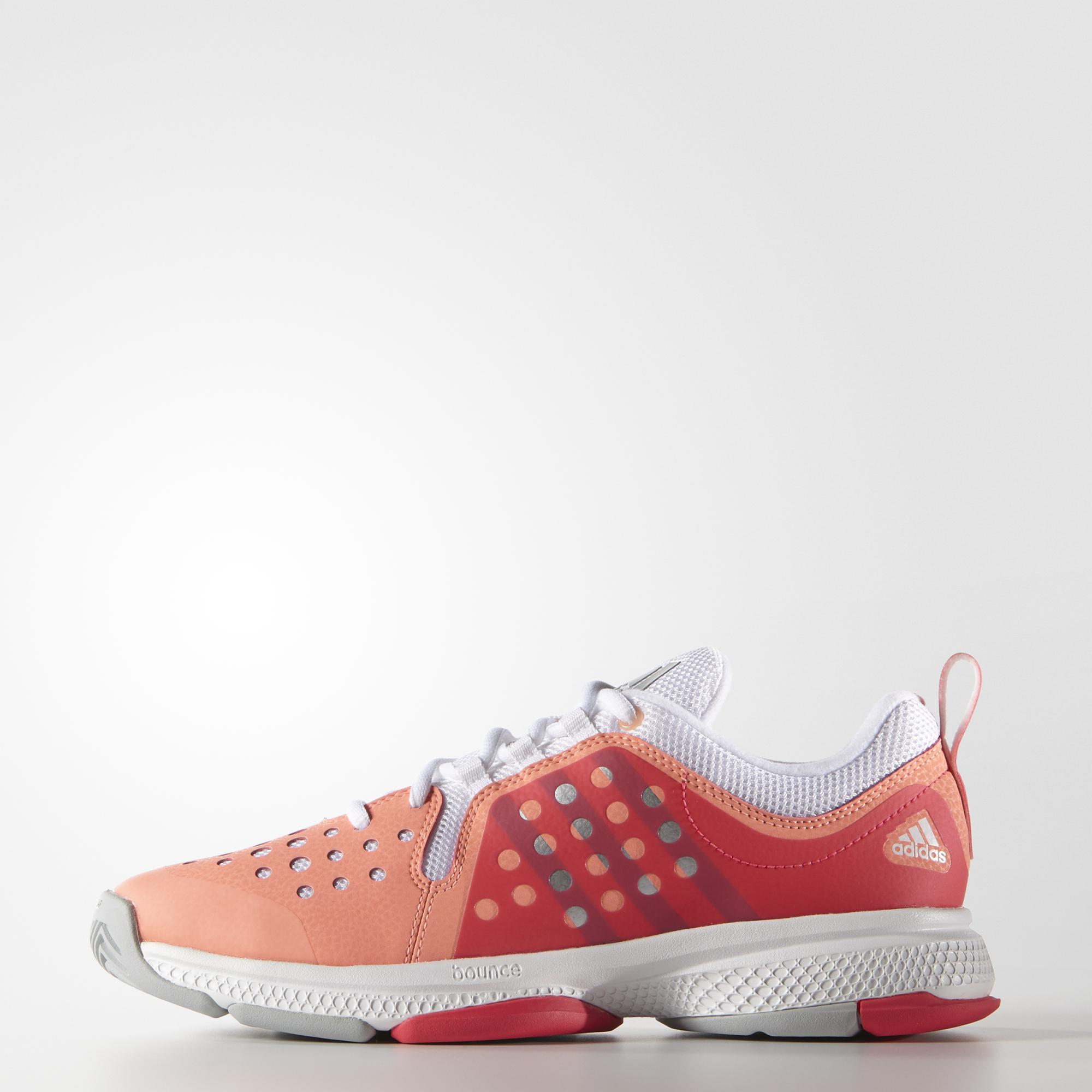 online retailer ab866 edf6e Adidas Womens Barricade Classic Bounce Tennis Shoes - Red - Tennisnuts.com