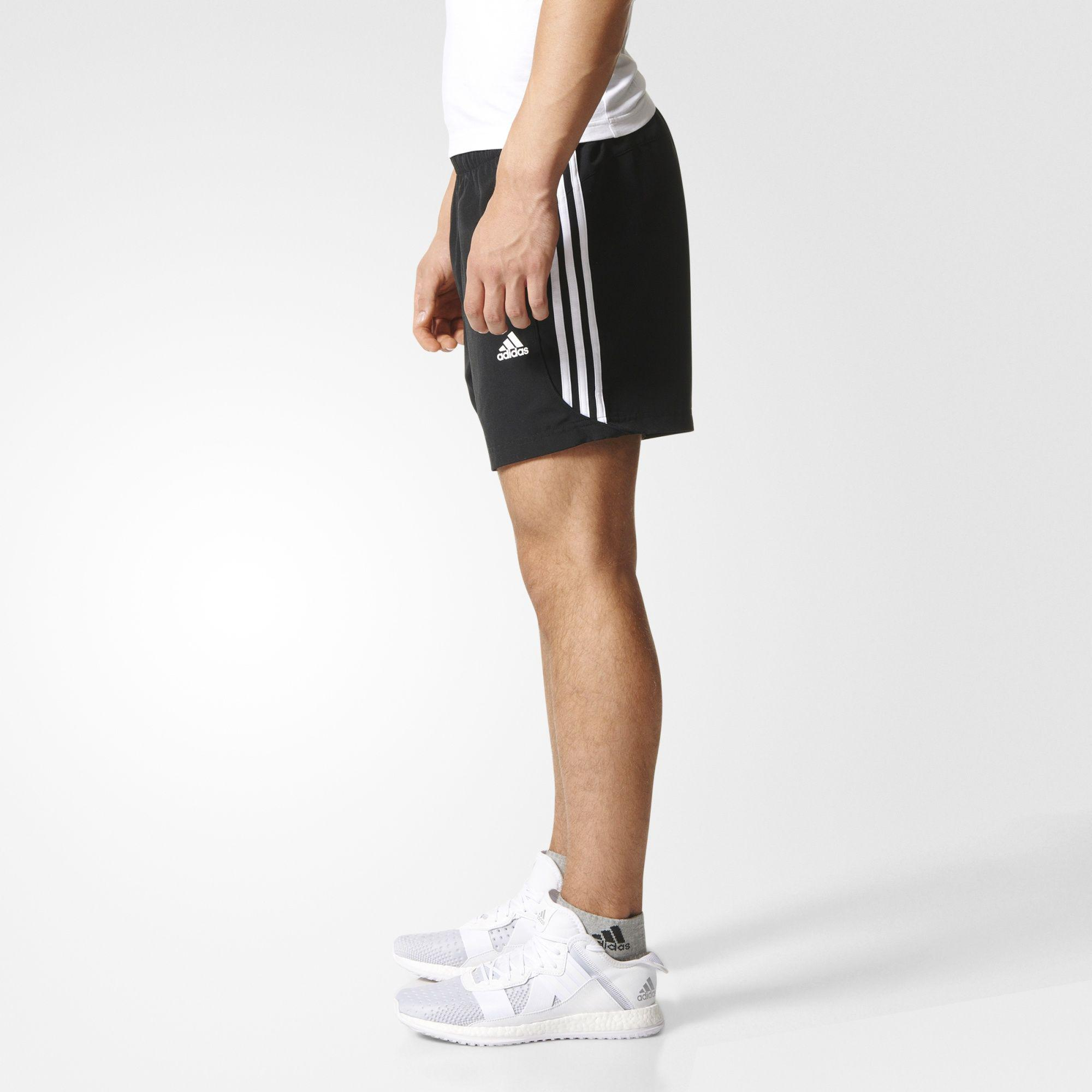 Adidas Mens Essential 3 Stripe Chelsea Shorts Black