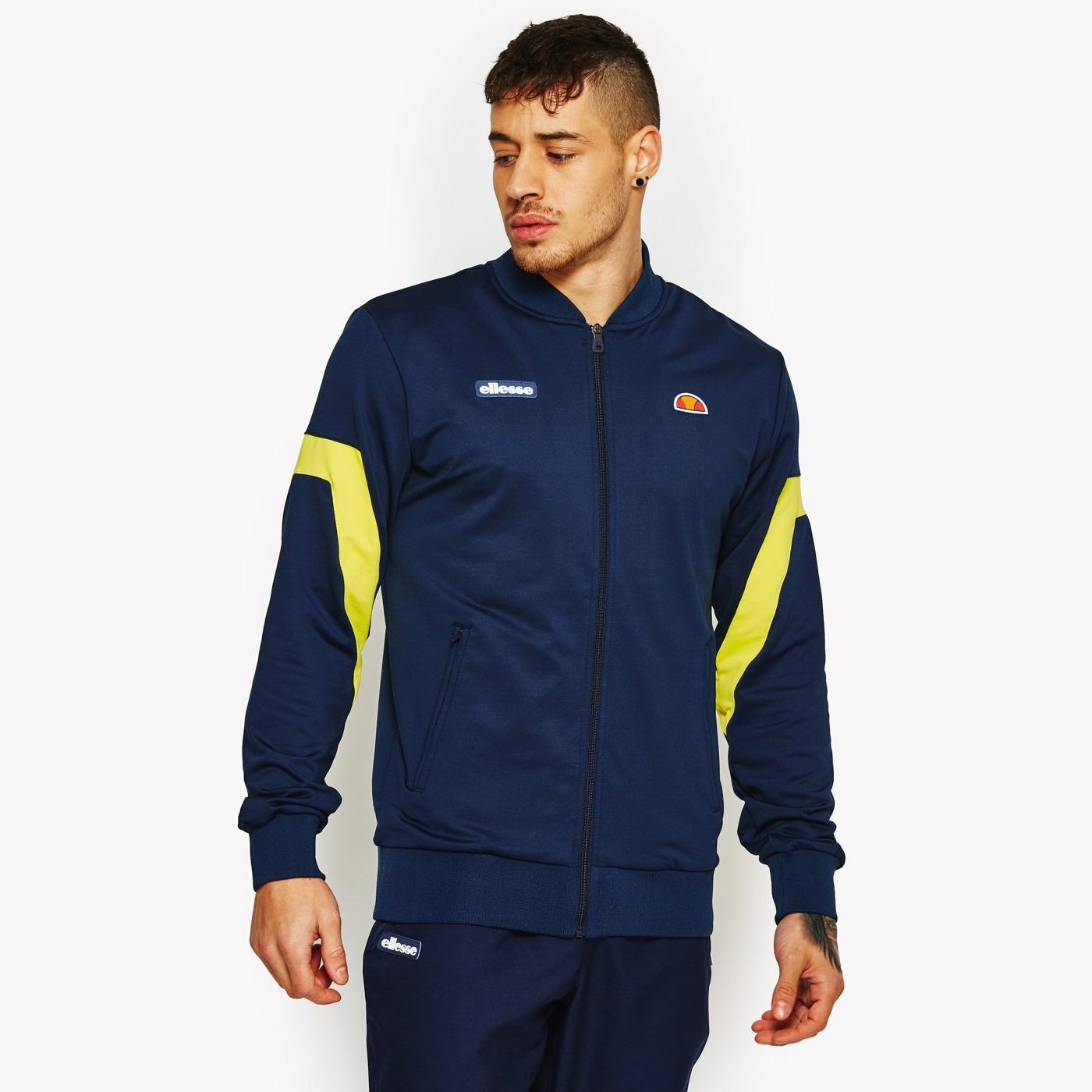 best website clearance sale cheapest price Ellesse Mens Montagu Jacket - Peacoat Navy/Yellow