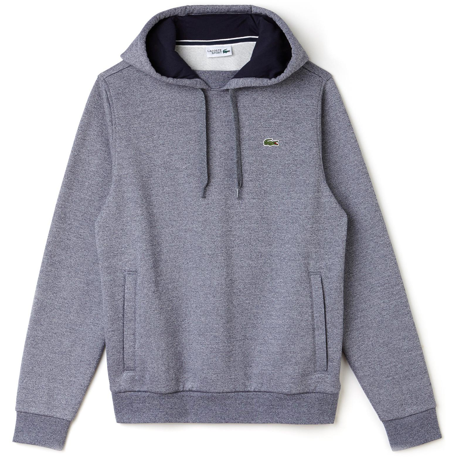 622d67ed2d7f Lacoste Sport Mens Hooded Fleece Tennis Sweatshirt - Mouline Navy Blue -  Tennisnuts.com