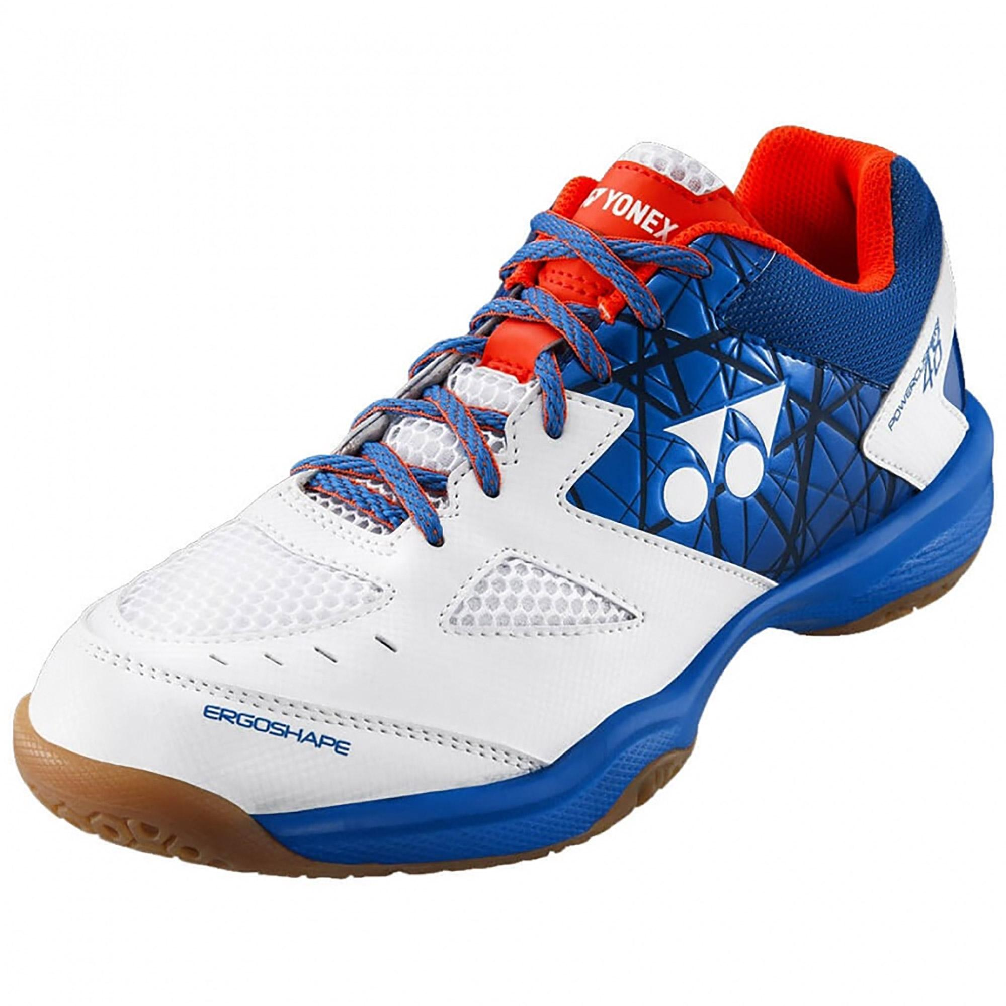 Yonex Men/'s Badminton Shoes White//Blue