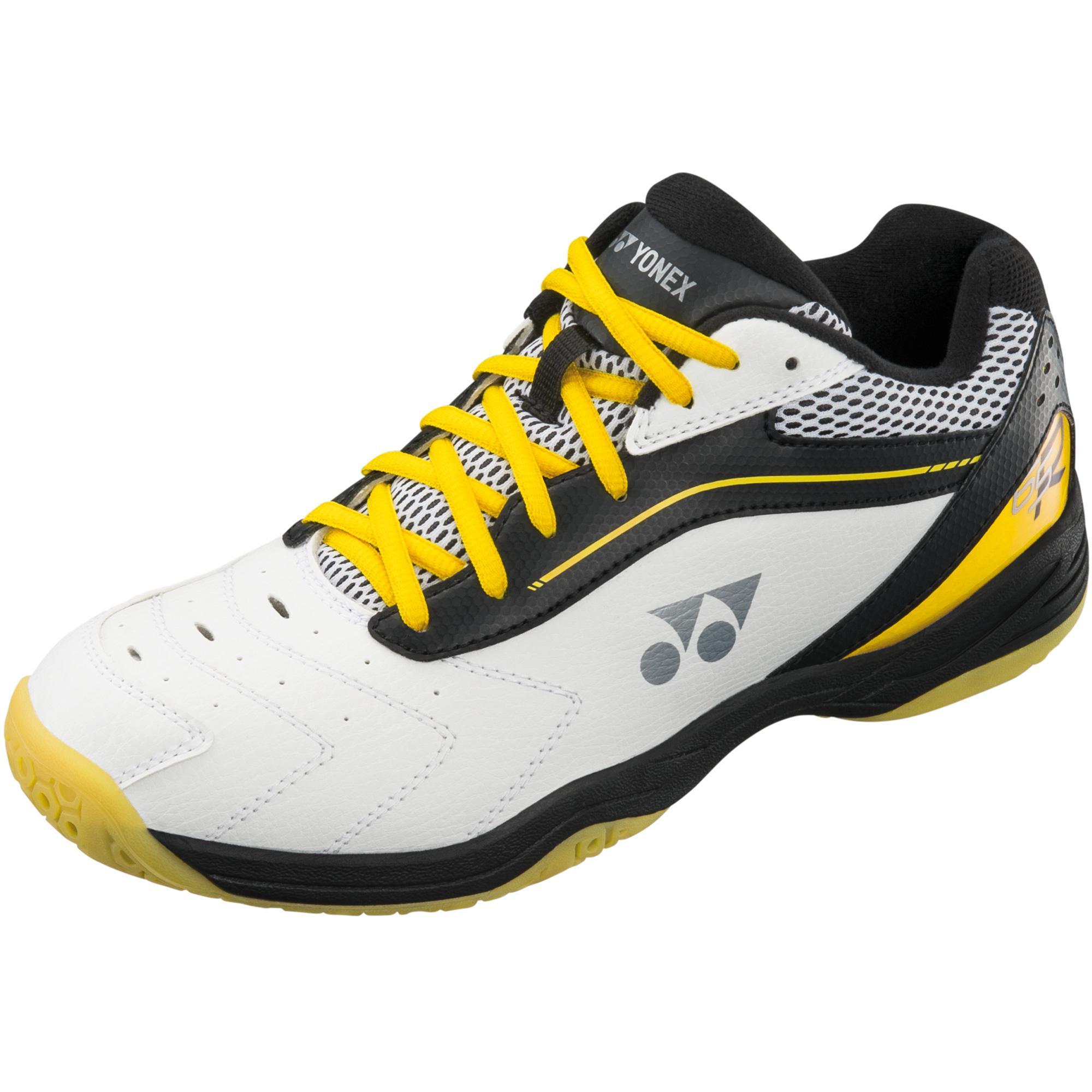 Yonex Mens Power Cushion 65R Badminton Shoes - White Black - Tennisnuts.com b3bfb44d9