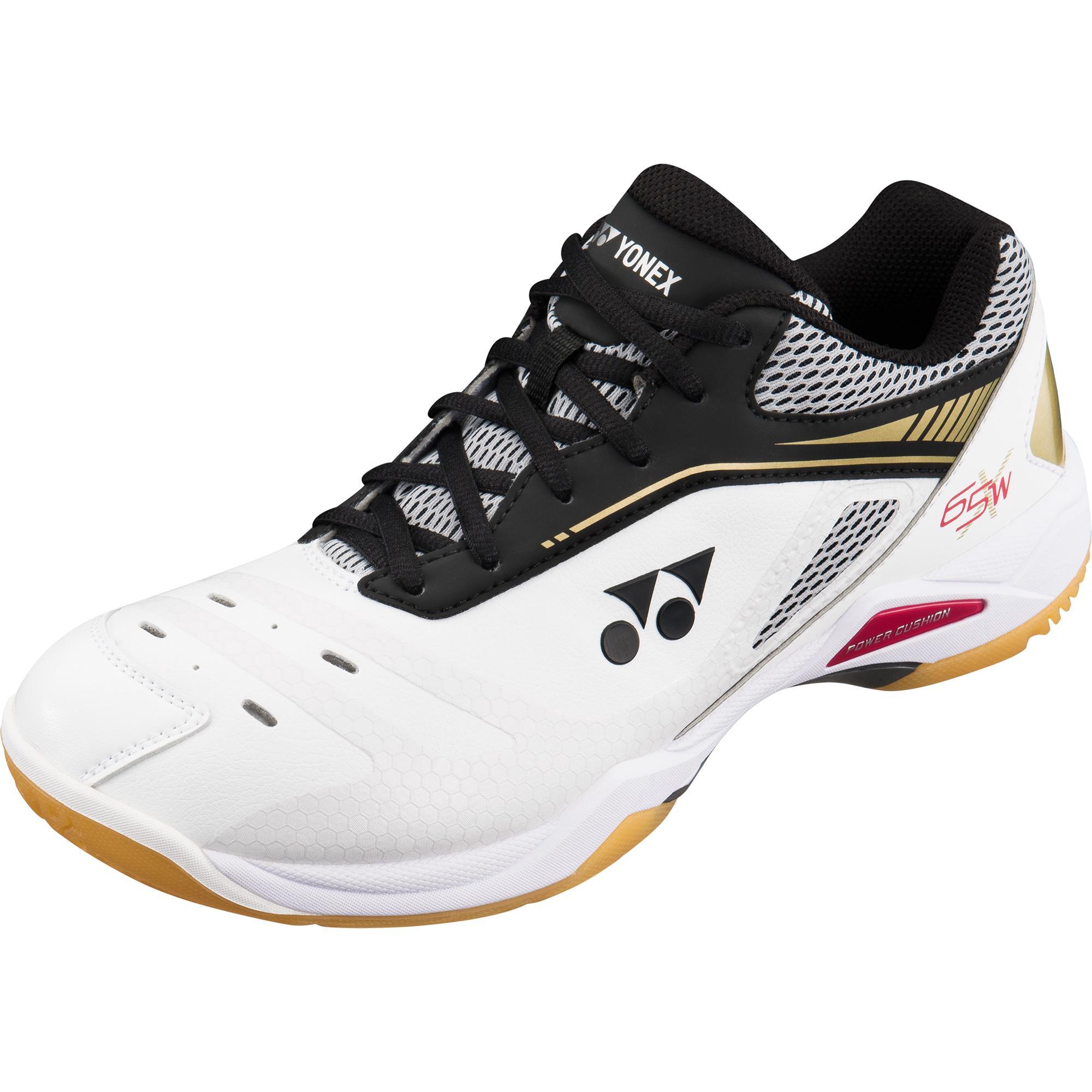c21de138c33 Yonex Mens Power Cushion 65 X Wide Badminton Shoes - White Gold -  Tennisnuts.com