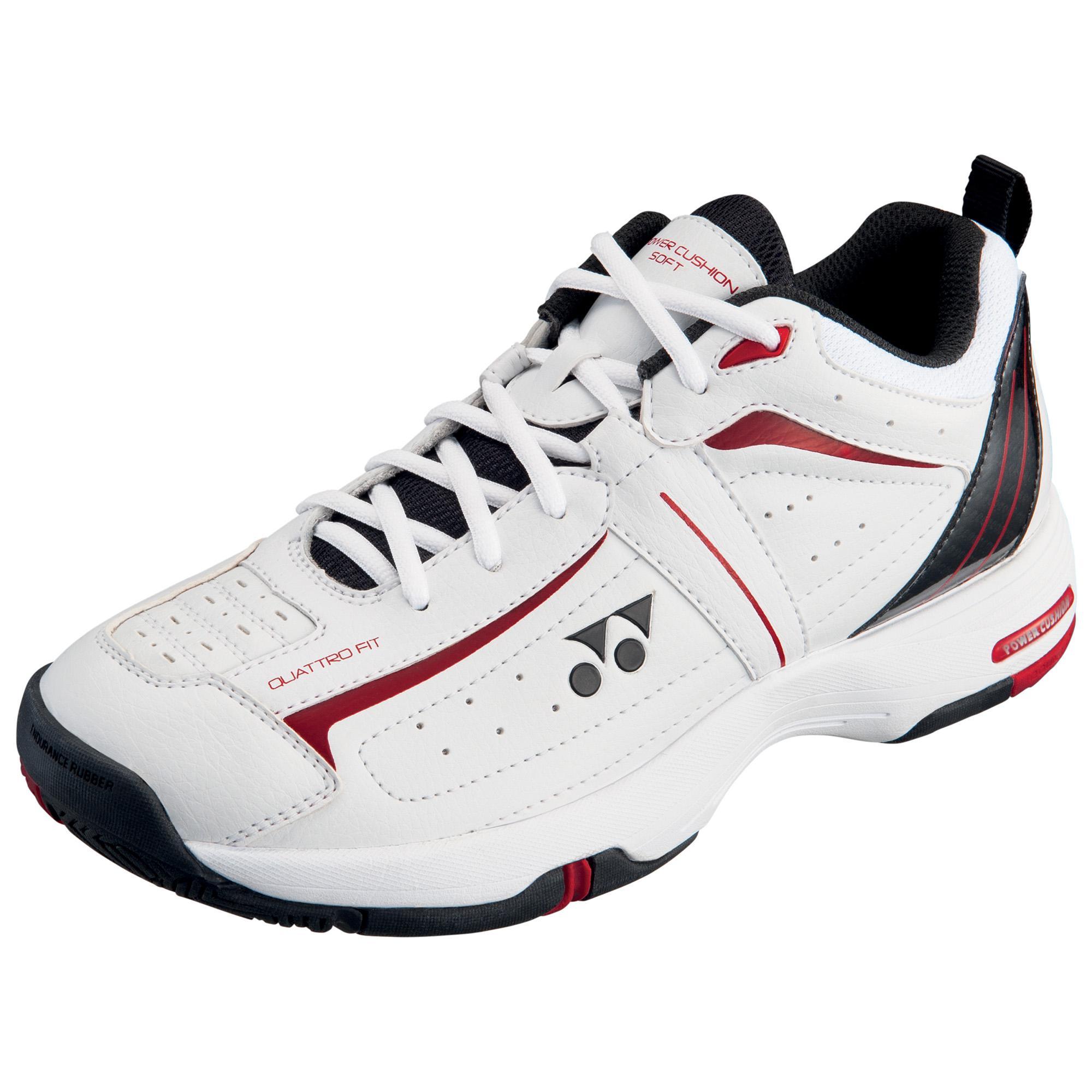 Yonex Mens SHT-SOFT Tennis Shoes - White/Black - Tennisnuts.com