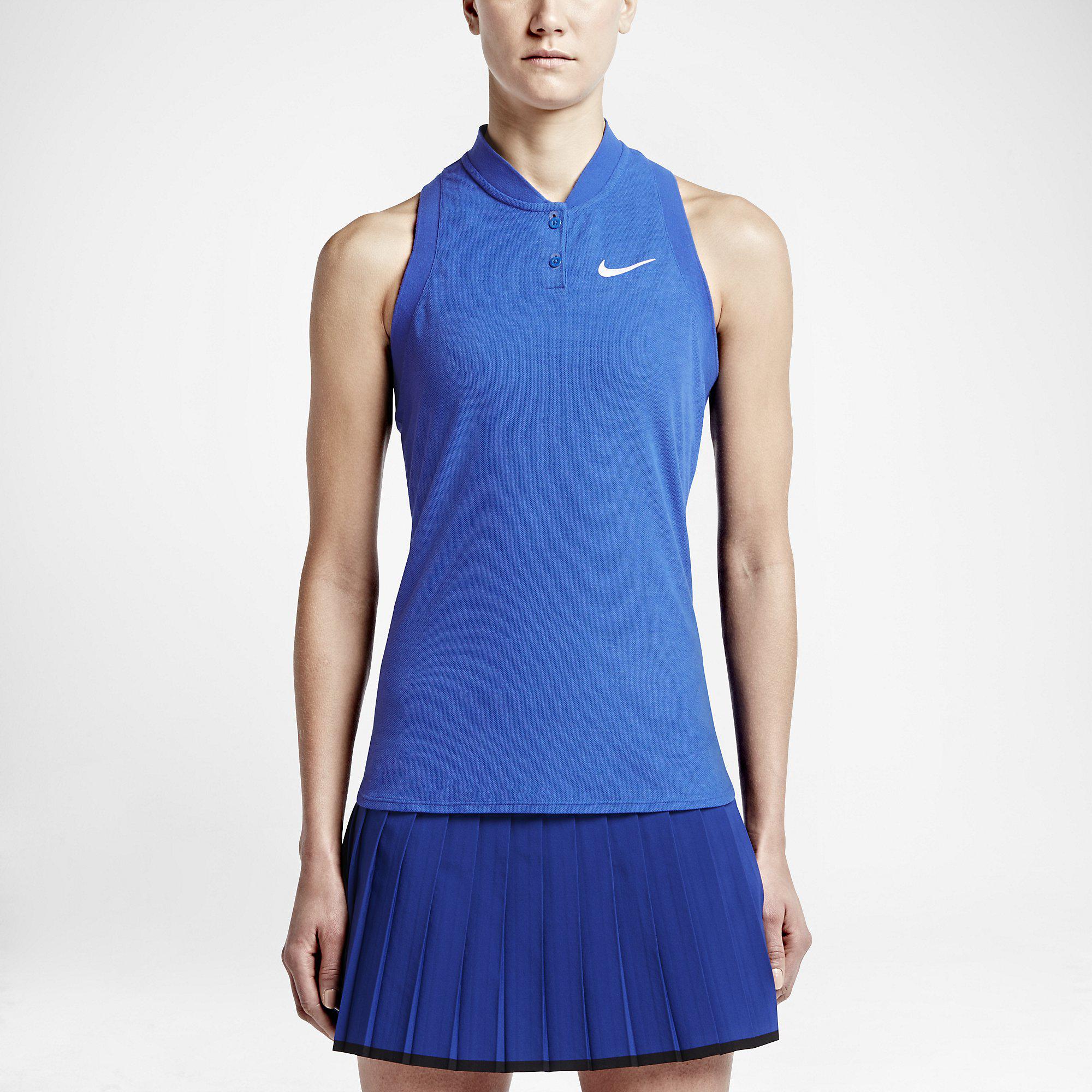Out Of Stock. Nike Womens Premier Advantage Sleeveless Polo - Hyper Cobalt  ...