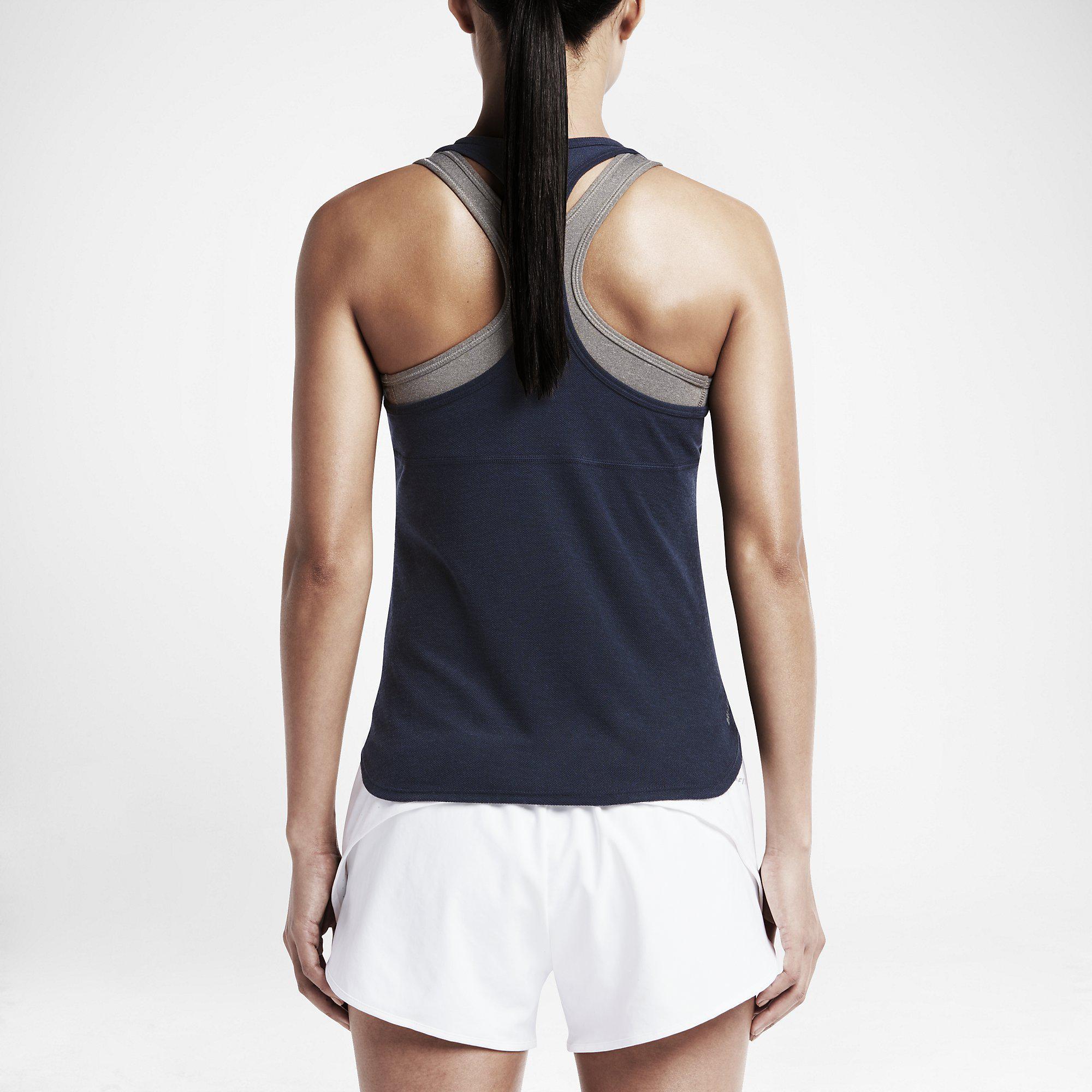 Nike Womens Dry Slam Tank Top - Navy