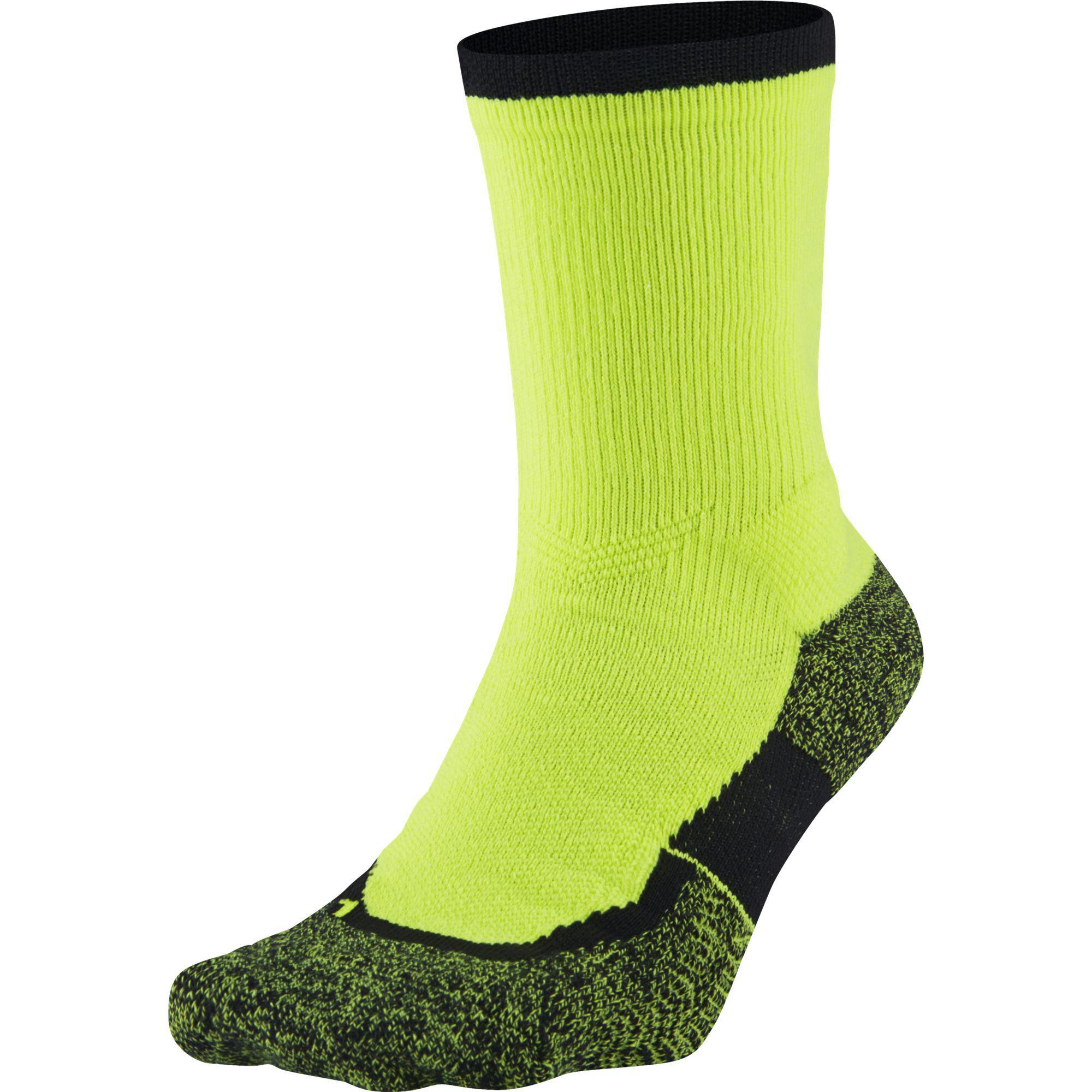 67b60300e Nike Elite Crew Tennis Socks (1 Pair) - Volt/Black - Tennisnuts.com