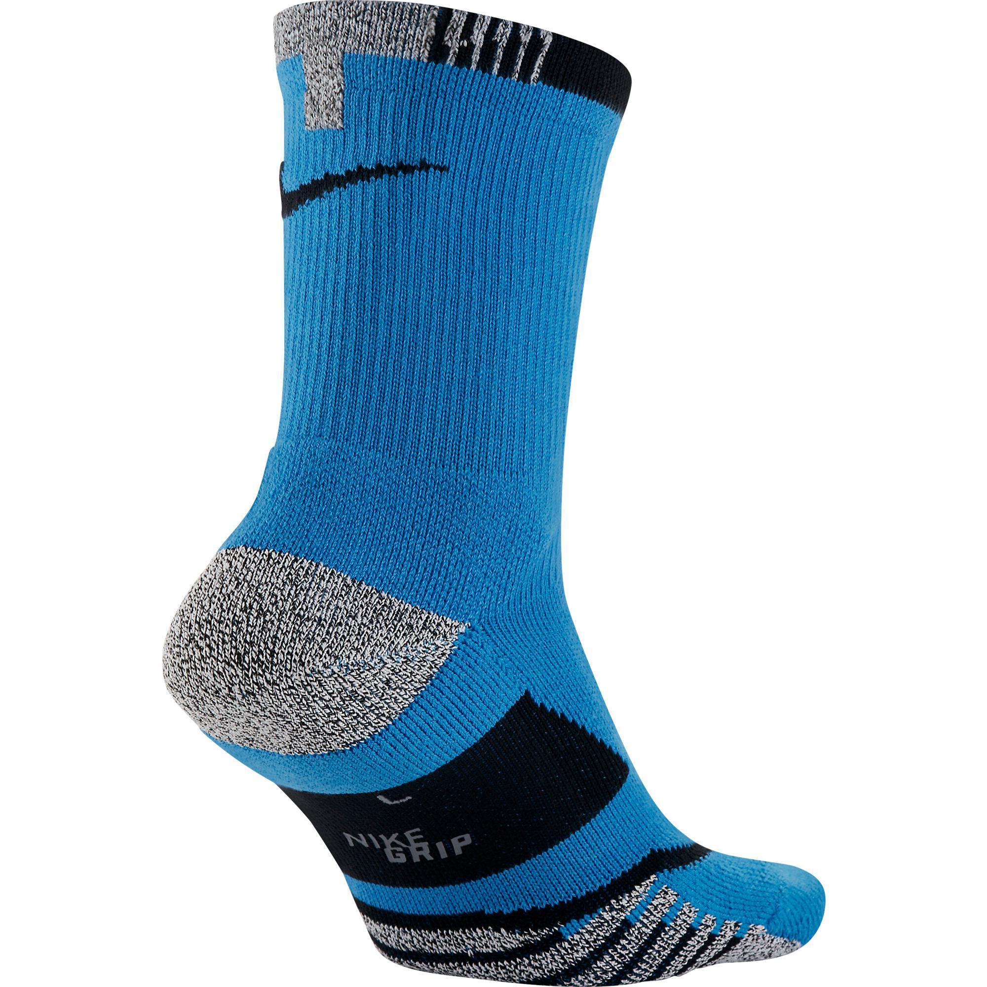 1b9e12528 Nike Grip Elite Crew Tennis Socks (1 Pair) - Light Photo Blue ...