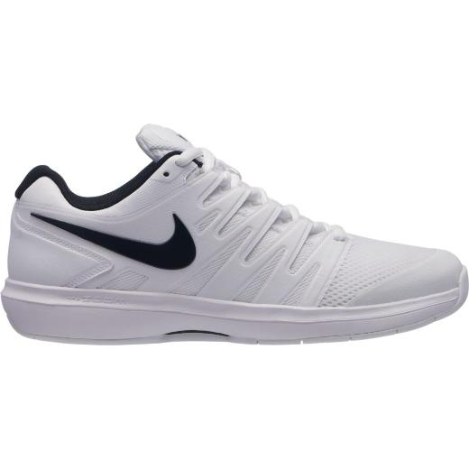 17e17ca876d3 Nike Mens Air Zoom Prestige Carpet Shoes - White Black - Tennisnuts.com