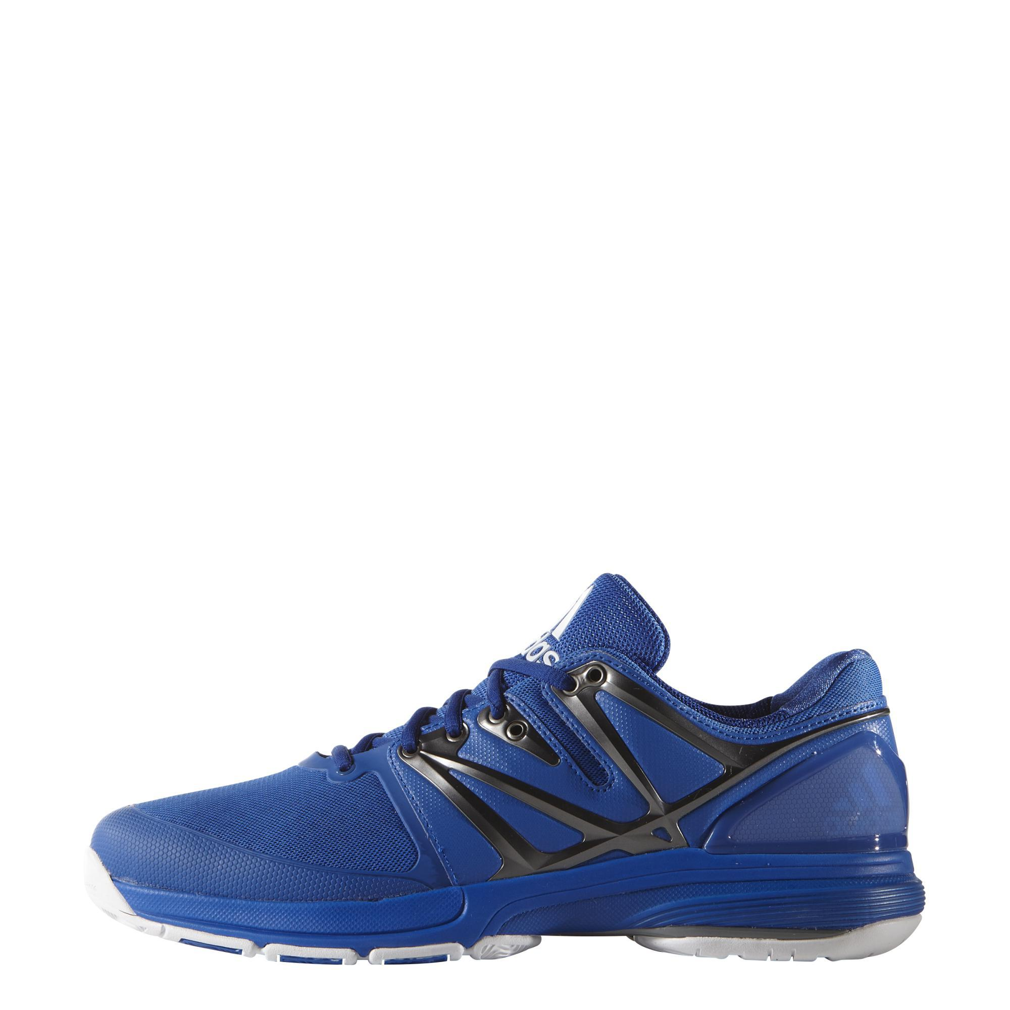 Adidas Mens Stabil4Ever Indoor Shoes - Blue/Iron Met