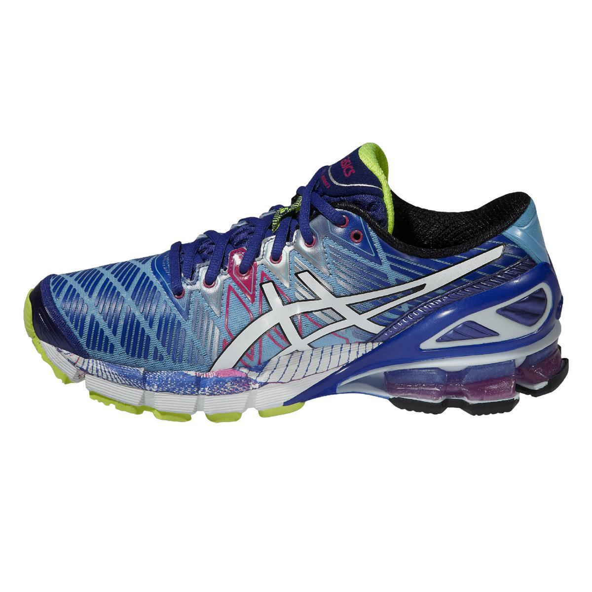 Asics Womens GEL-Kinsei 5 Running Shoes - Blue/White/Pink