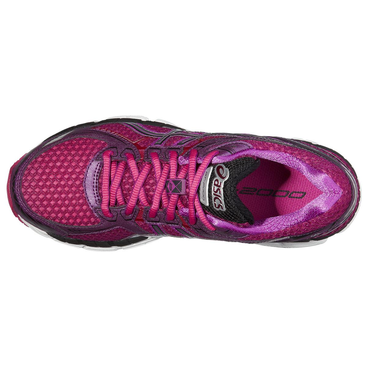 Asics Gt  Womens Running Shoes Silver Pink Purple