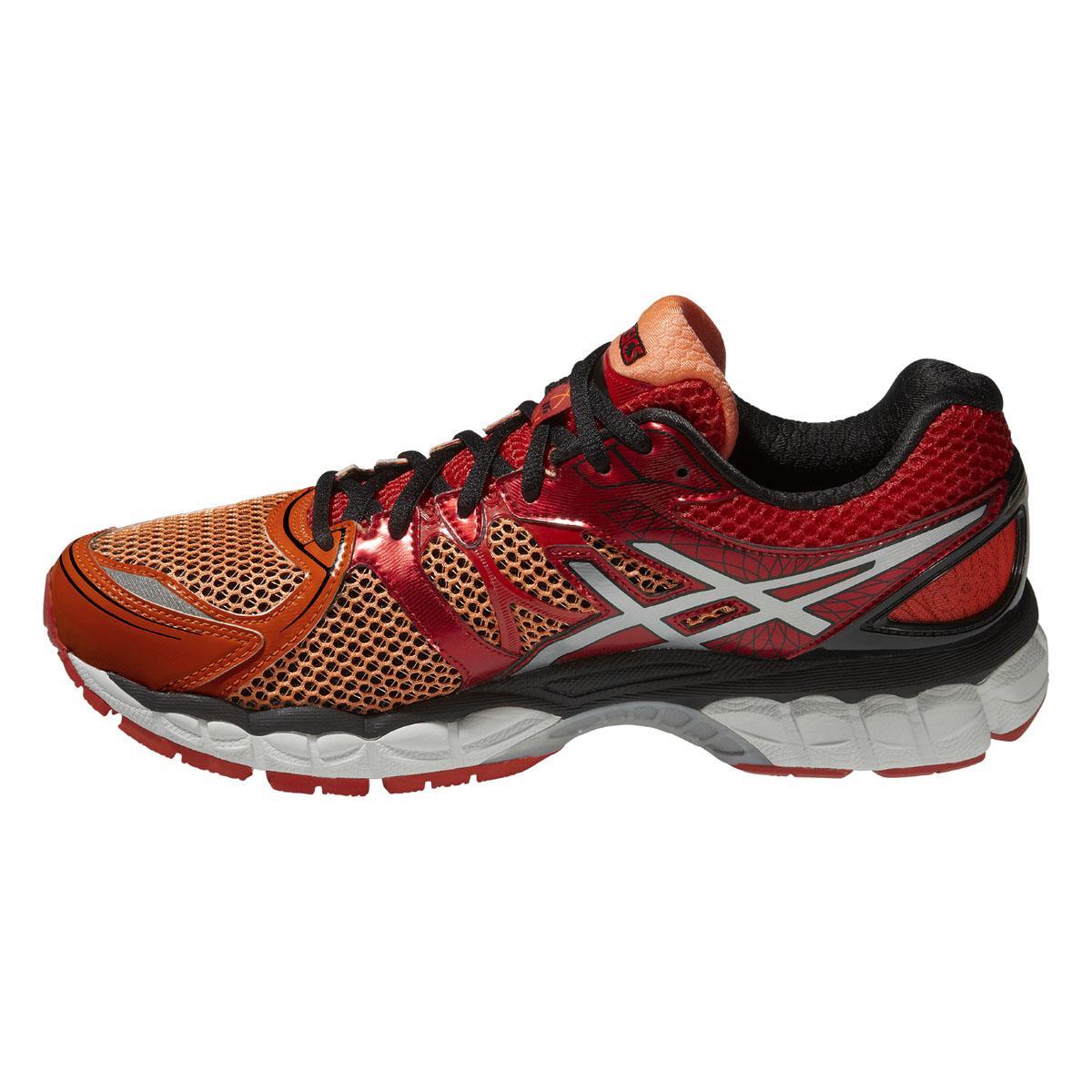 asics mens gel nimbus 16 running shoes flash orange lightning red. Black Bedroom Furniture Sets. Home Design Ideas