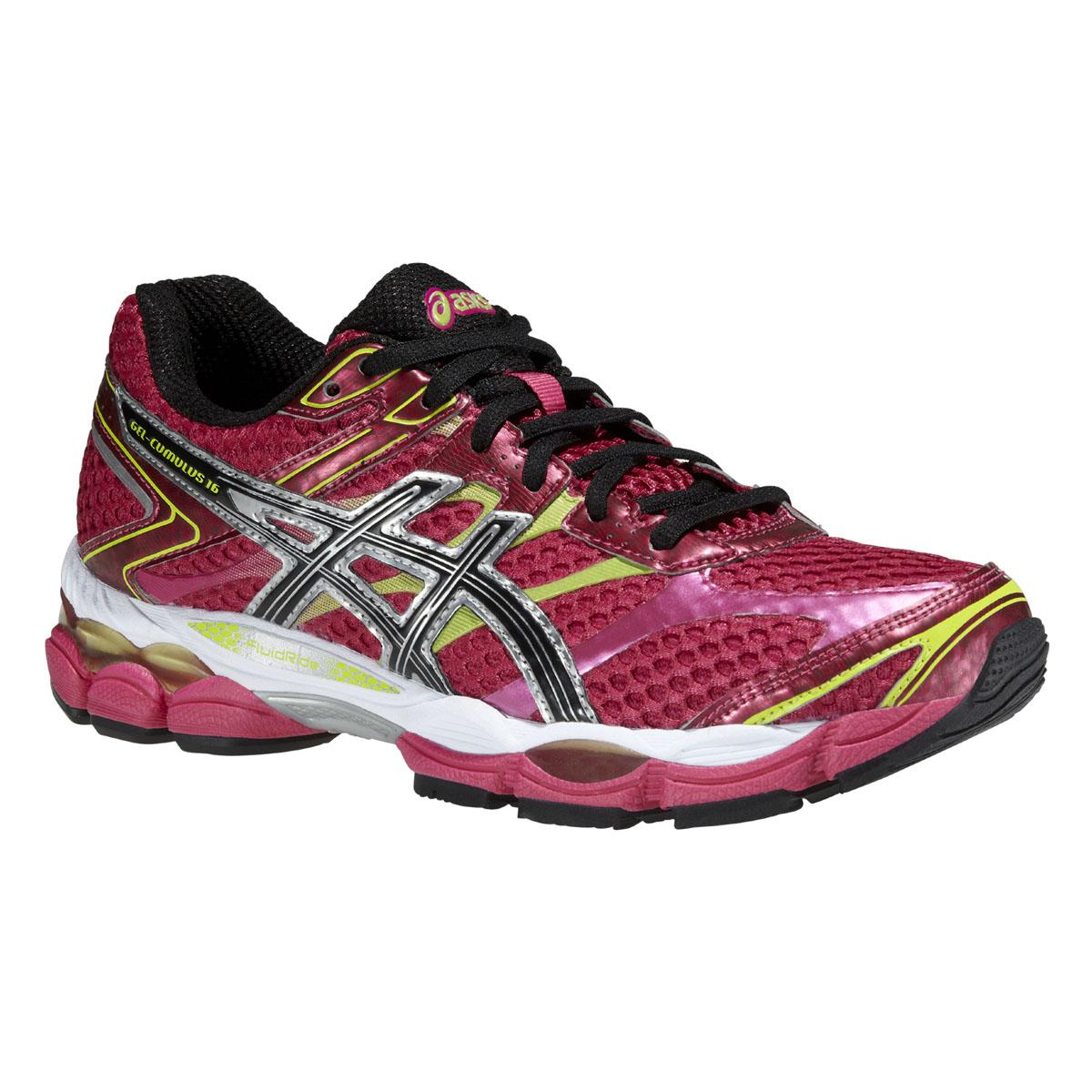 Womens Cumulus Shoes Running Asics Gel 16 Raspberryblacklime lcK1J3TF