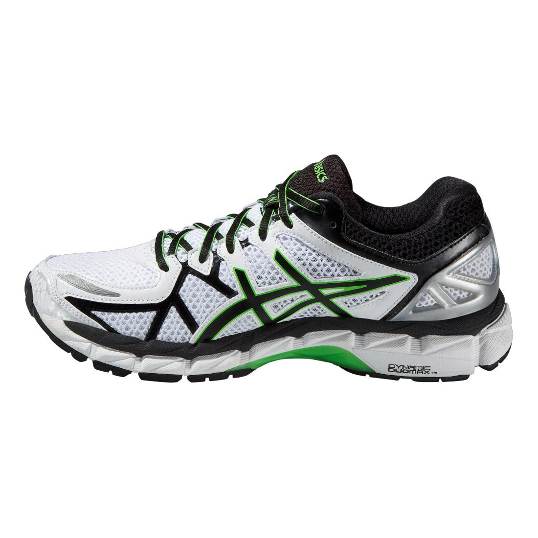 asics mens gel kayano 21 running shoes white black. Black Bedroom Furniture Sets. Home Design Ideas
