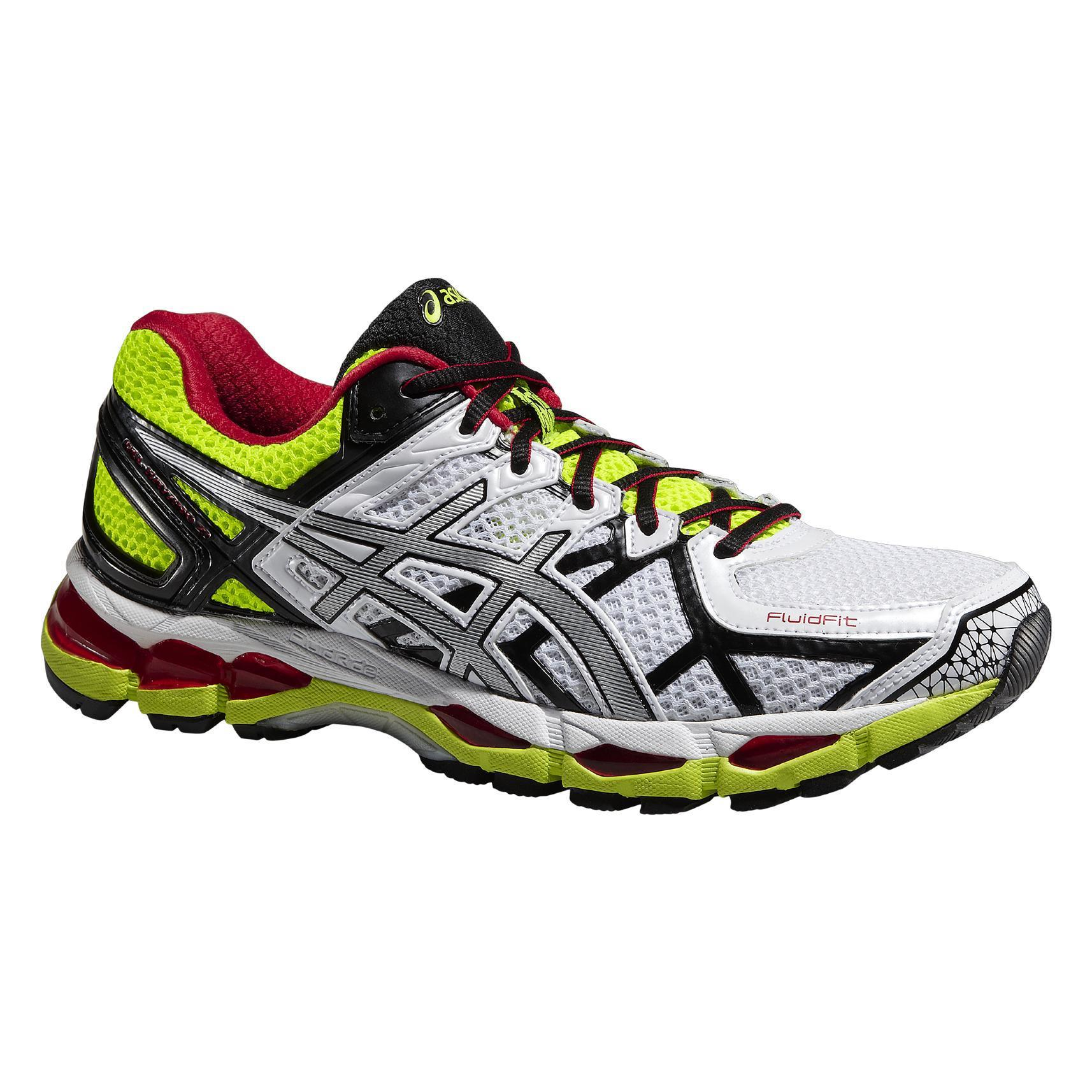 new style c6bb7 668bc Asics Mens GEL-Kayano 21 Running Shoes - White Yellow - Tennisnuts.com