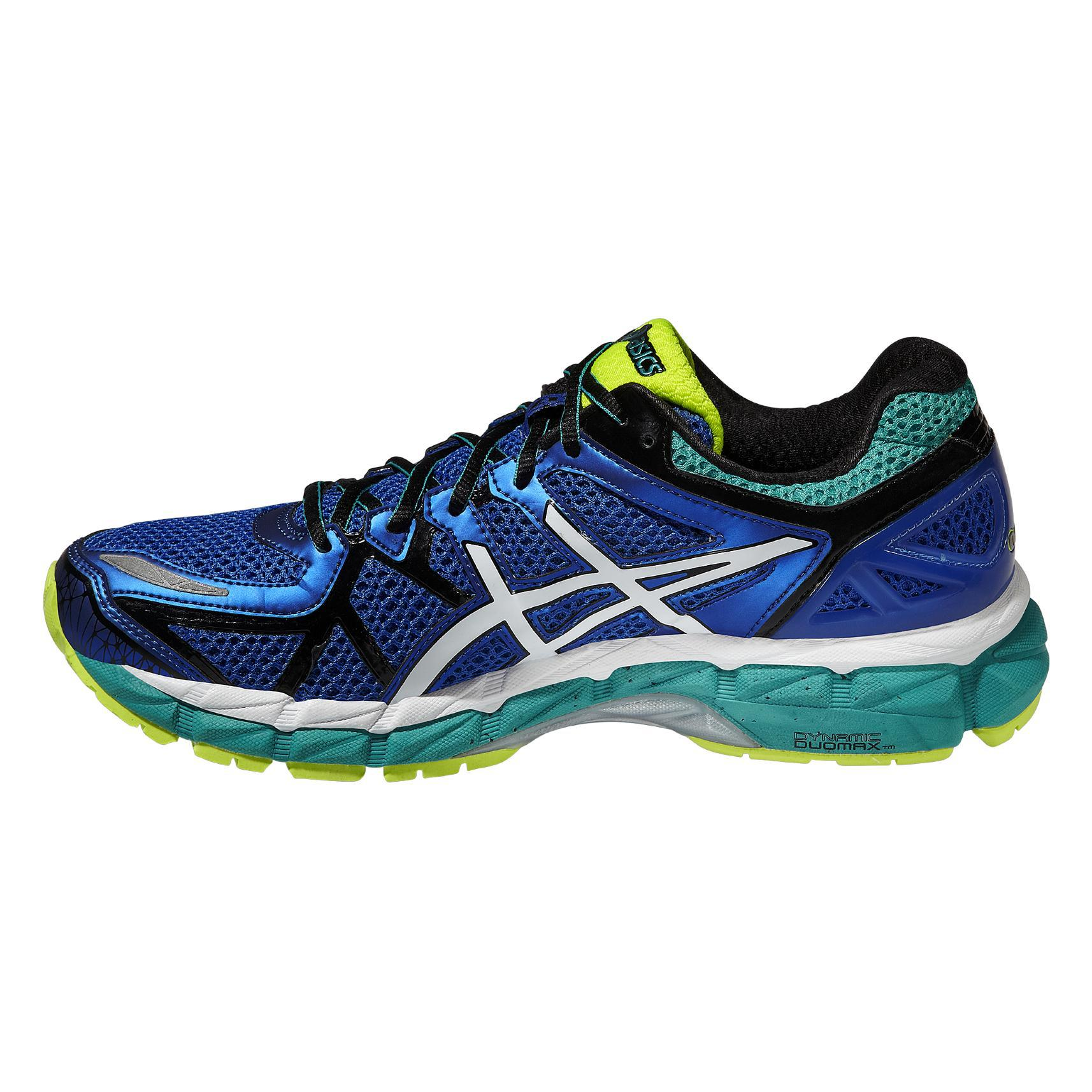 asics mens gel kayano 21 running shoes blue white. Black Bedroom Furniture Sets. Home Design Ideas