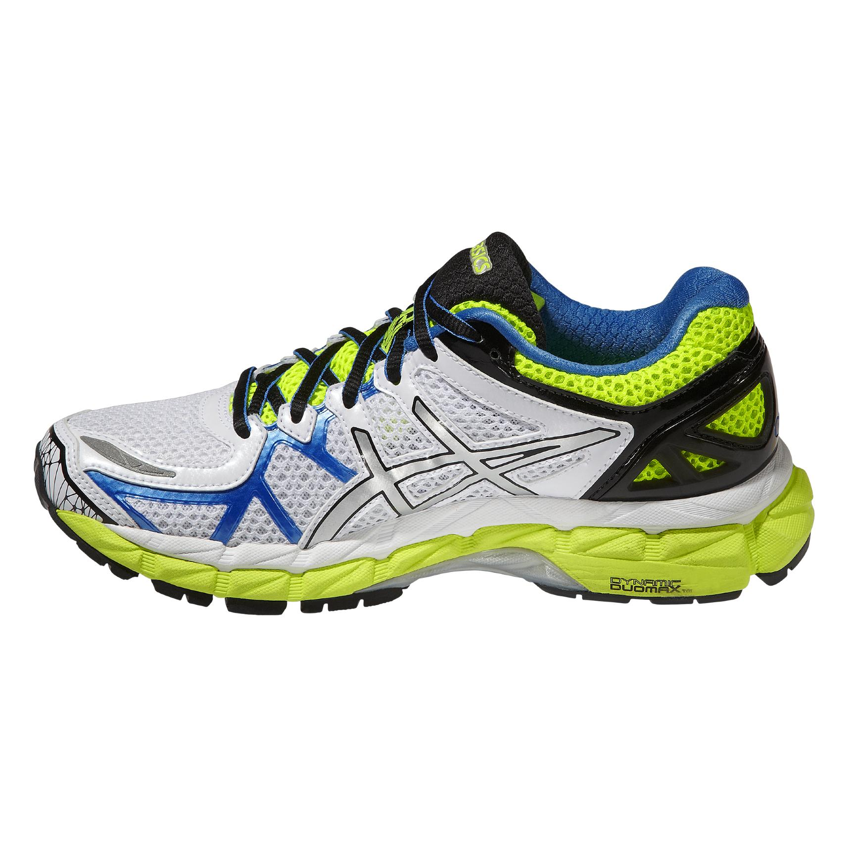 ef05271f1505 Asics Womens GEL-Kayano 21 Running Shoes - White Yellow - Tennisnuts.com