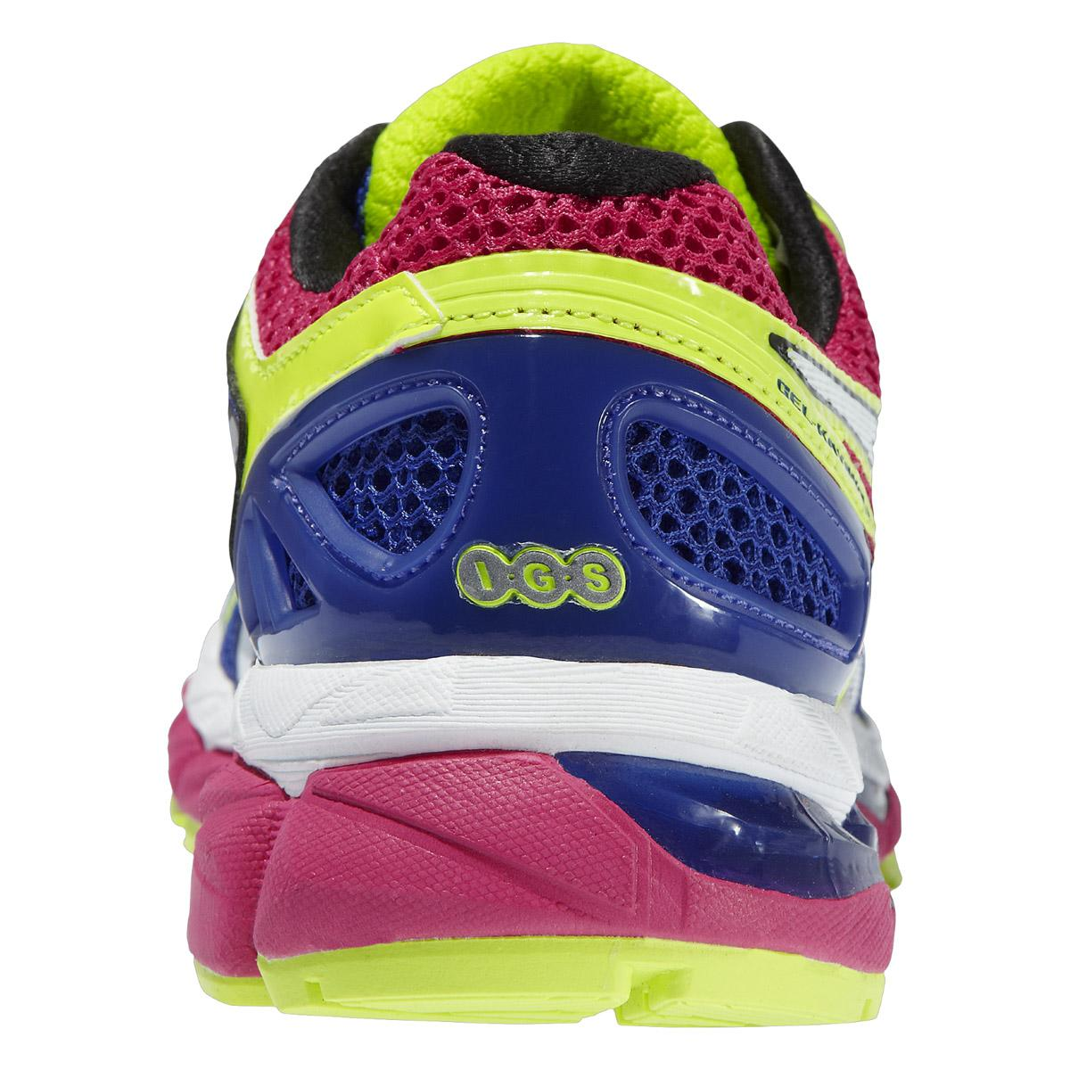 Asics Womens GEL-Kayano 21 Running Shoes - Blue/Flash Yellow