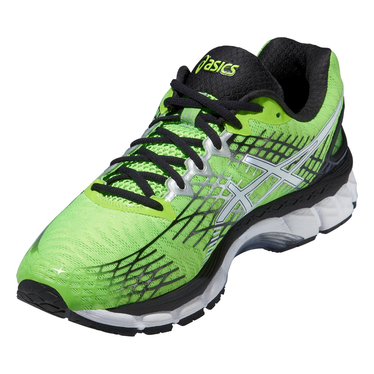 asics mens gel nimbus 17 4e running shoes flash green. Black Bedroom Furniture Sets. Home Design Ideas