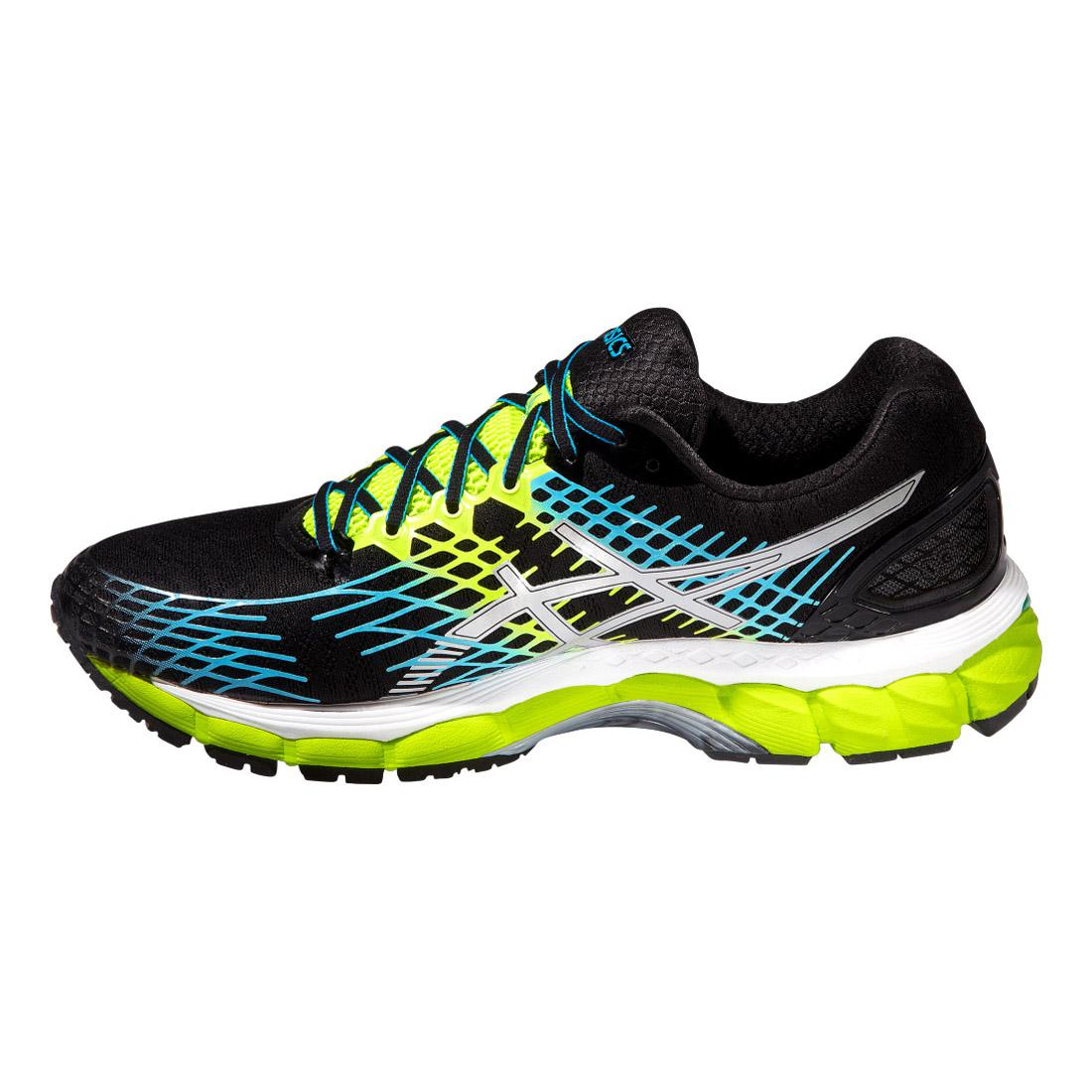 asics mens gel nimbus 17 running shoes onyx yellow. Black Bedroom Furniture Sets. Home Design Ideas