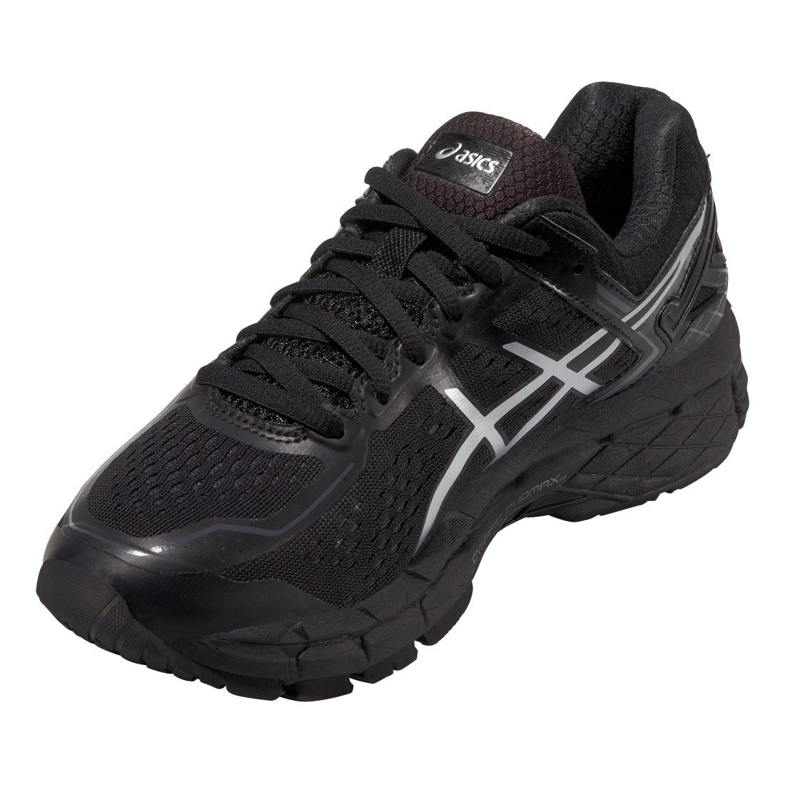 asics womens gel kayano 22 running shoes black. Black Bedroom Furniture Sets. Home Design Ideas