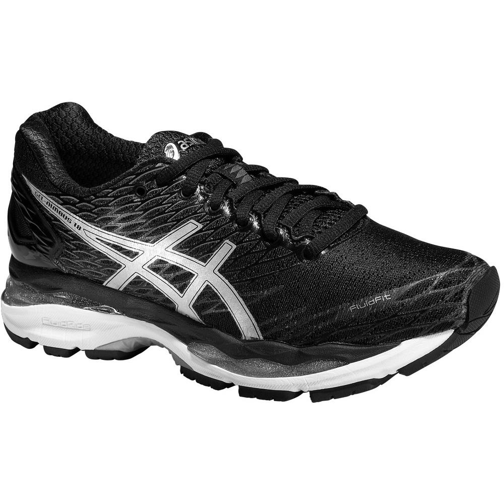 asics womens gel nimbus 18 running shoes black. Black Bedroom Furniture Sets. Home Design Ideas